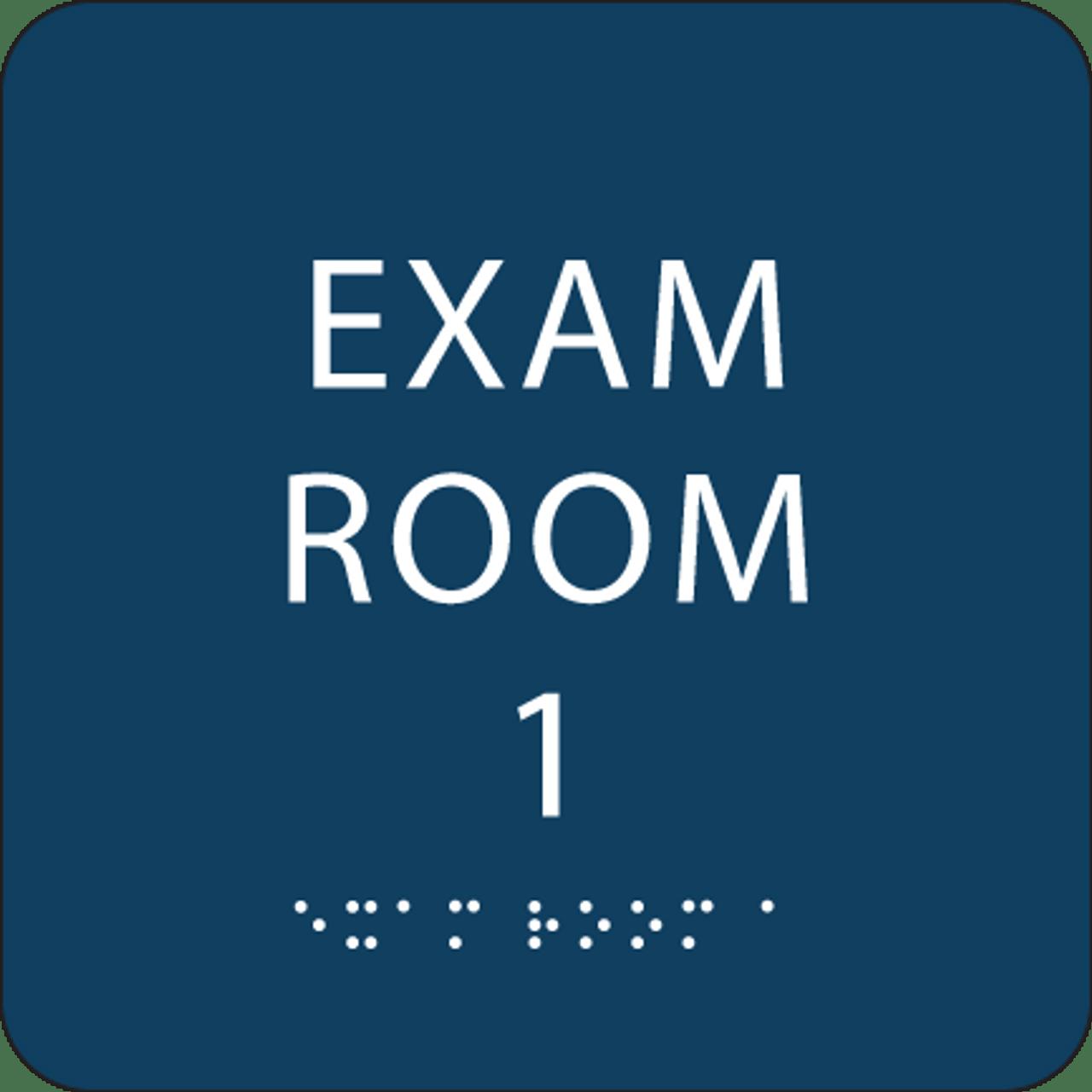 Dark Blue Exam Room 1 ADA Sign