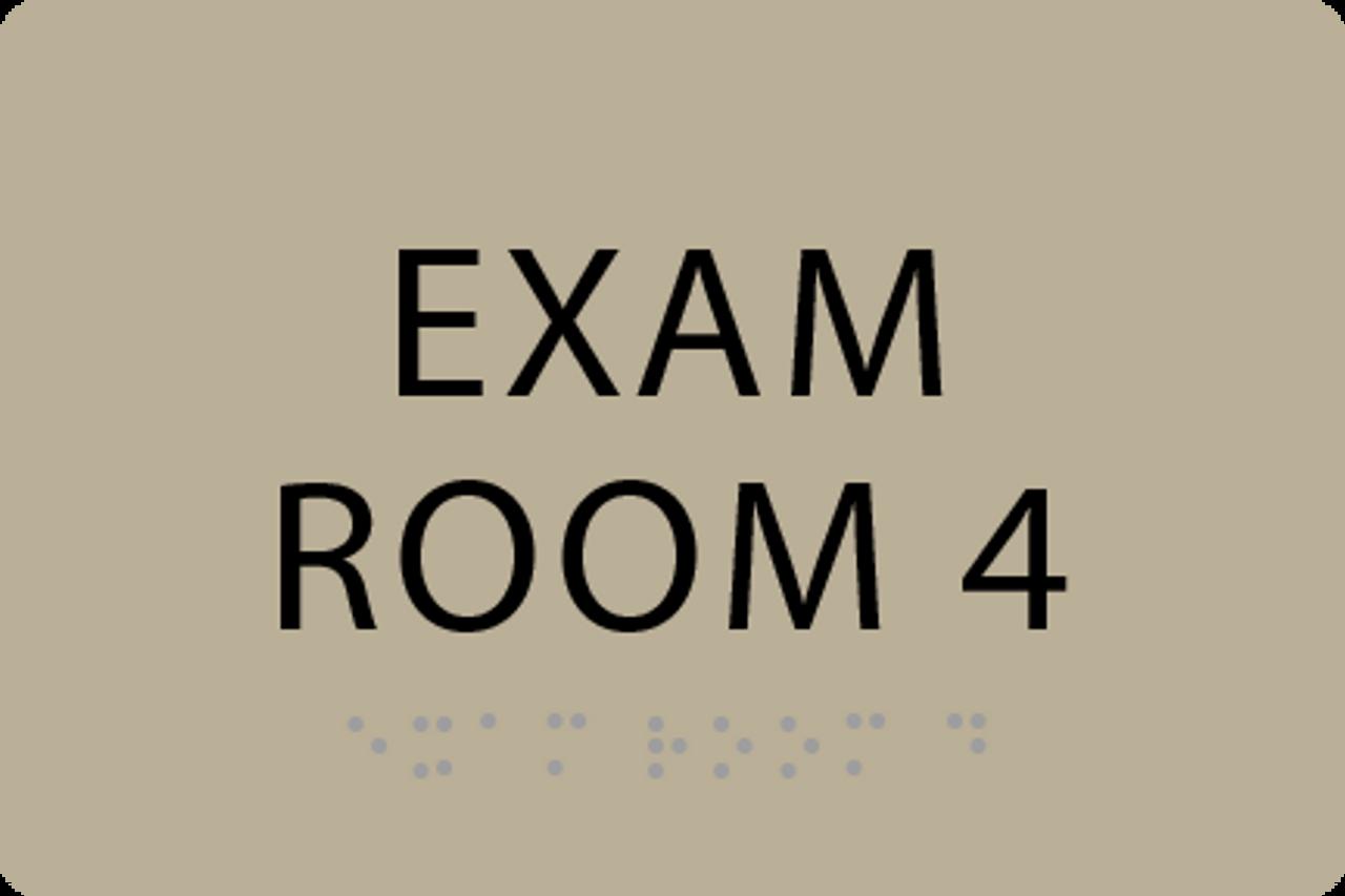ADA Exam Room 4 Sign