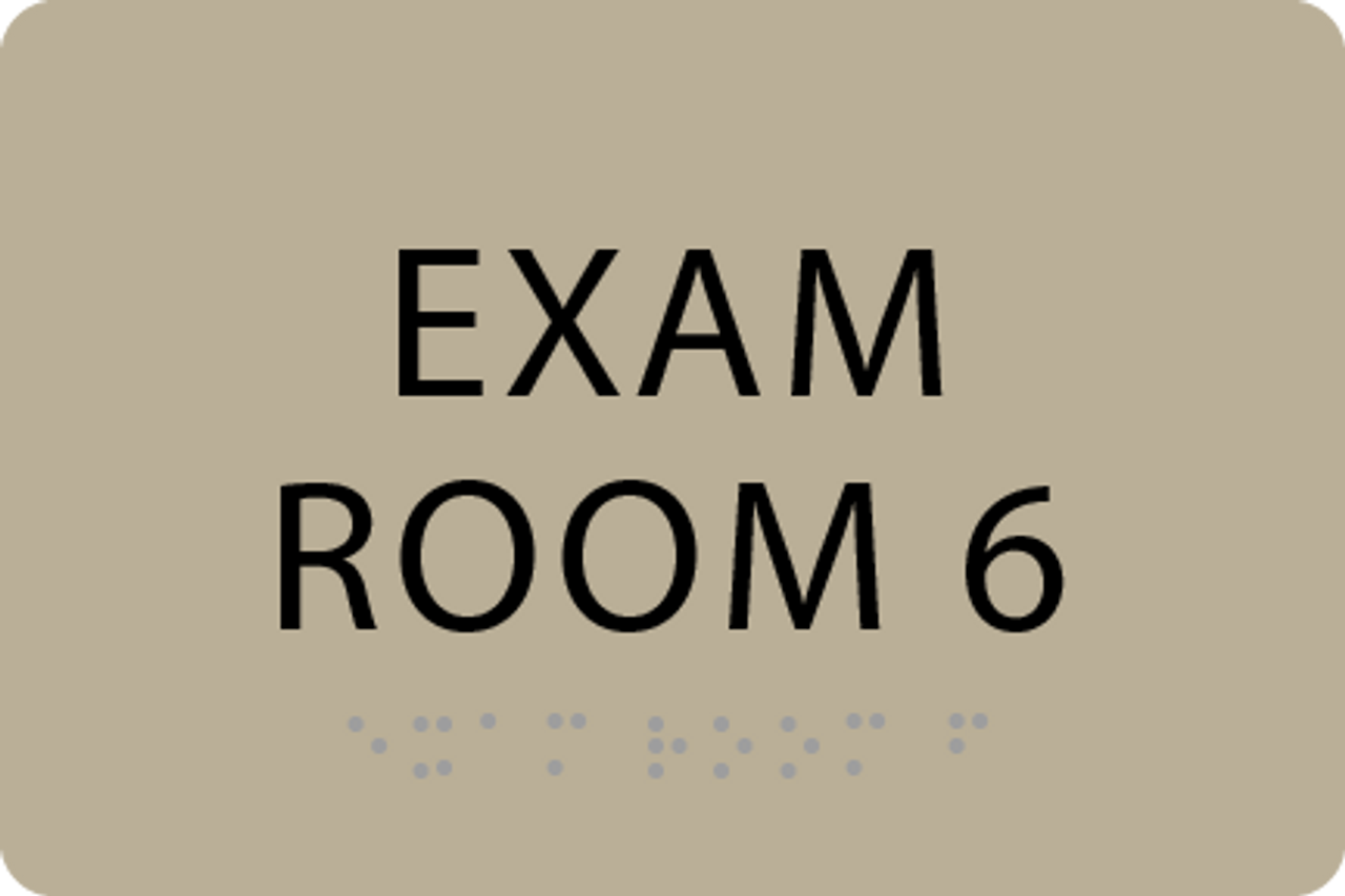 ADA Exam Room 6 Sign