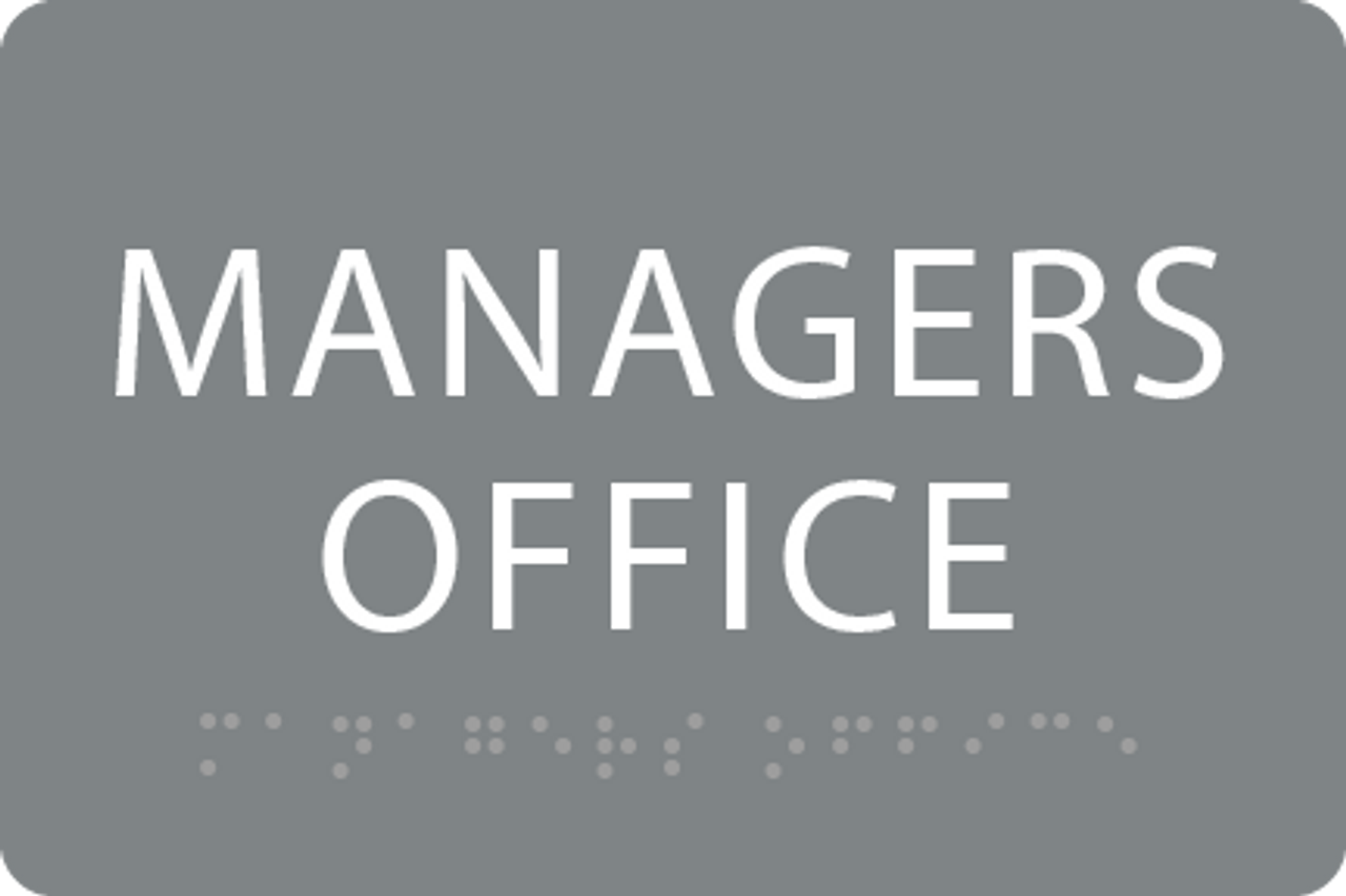 ADA Managers Office Sign