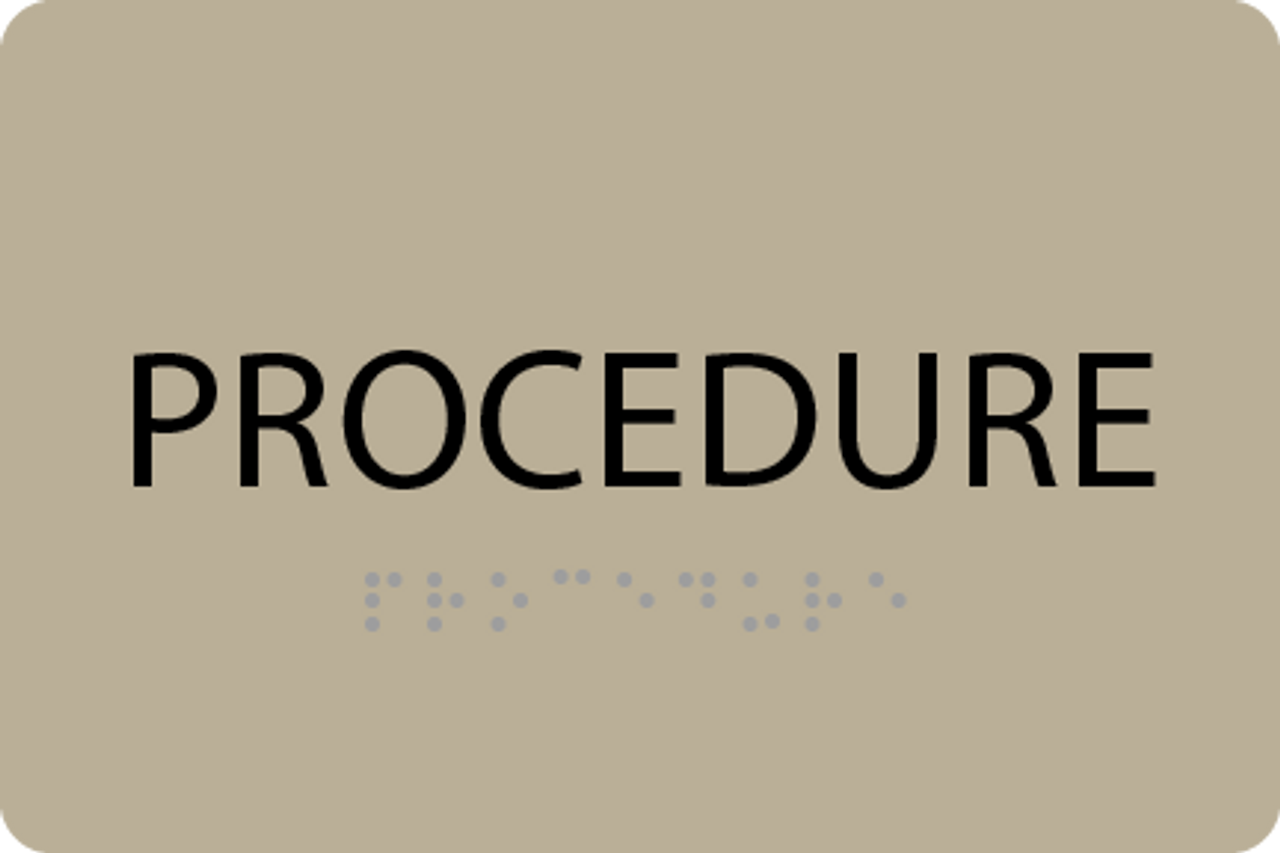 ADA Procedure Sign
