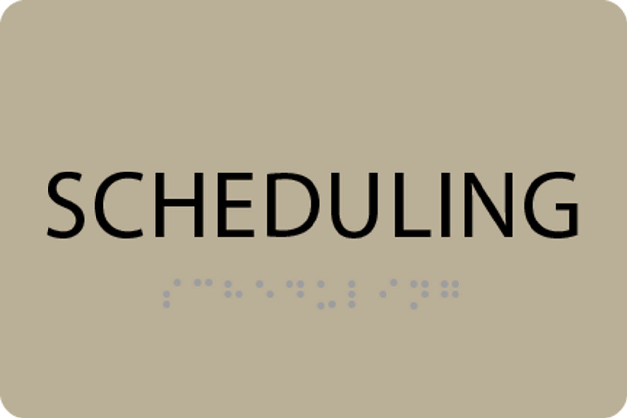 ADA Scheduling Sign