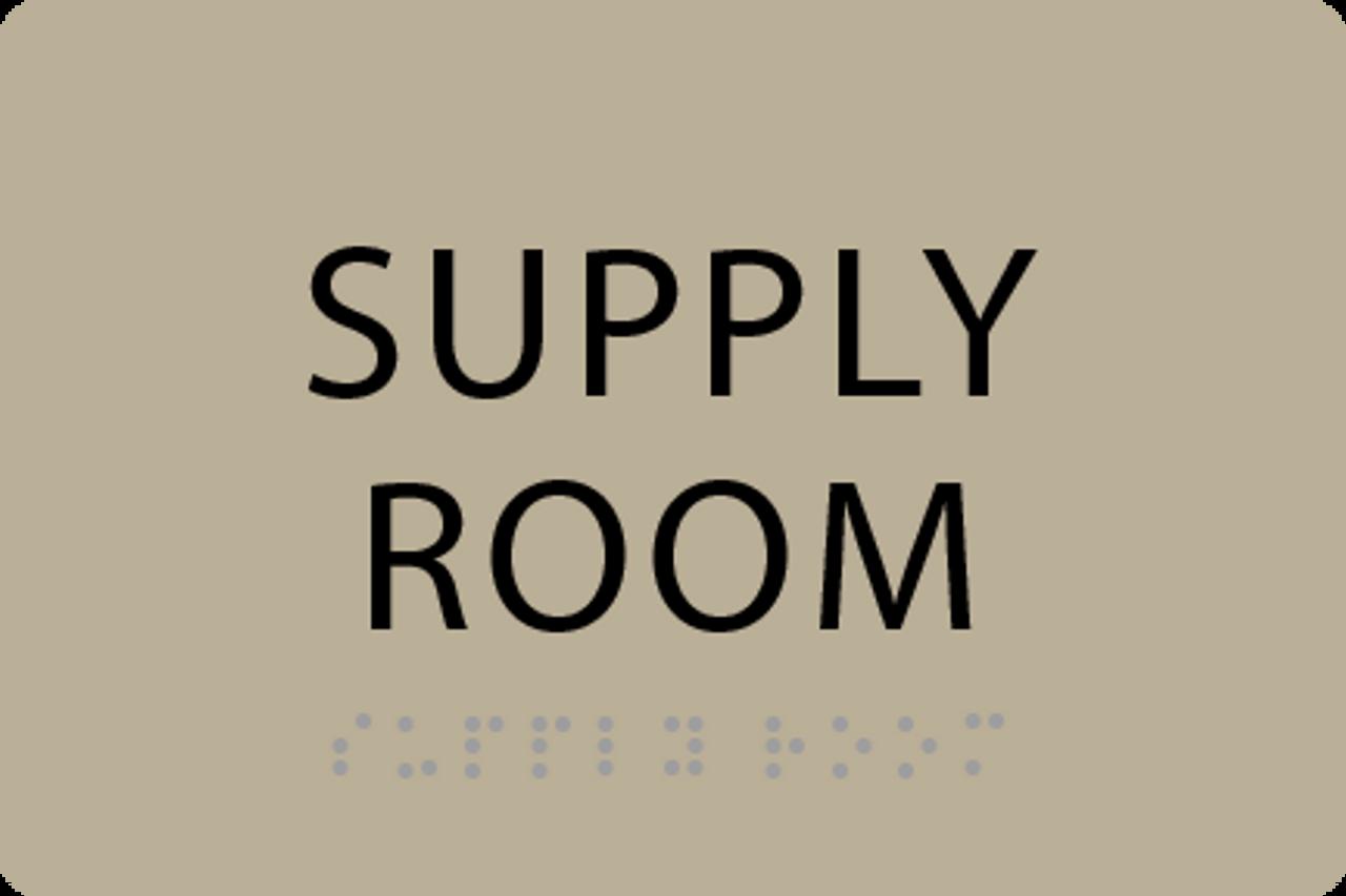ADA Supply Room Sign
