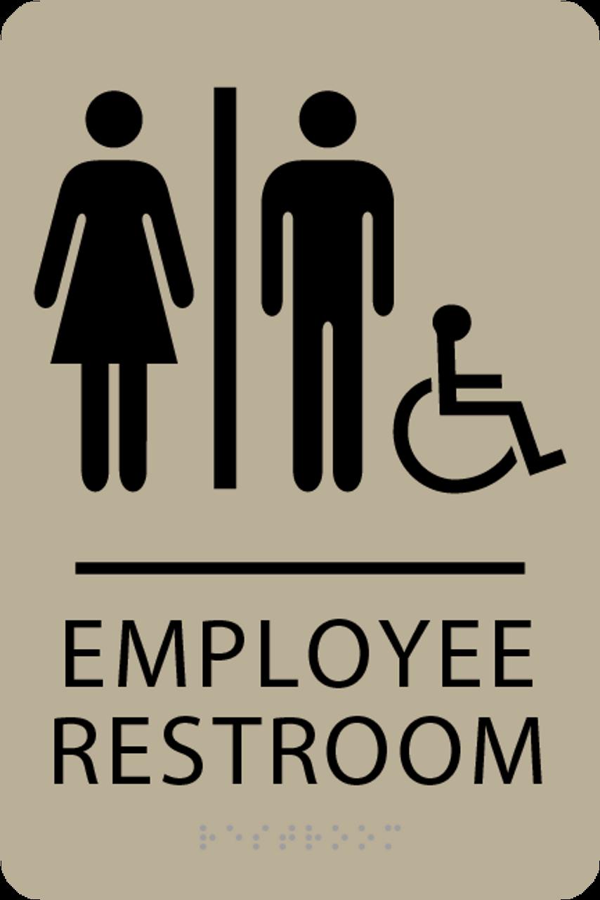 ADA Accessible Employee Restroom Sign
