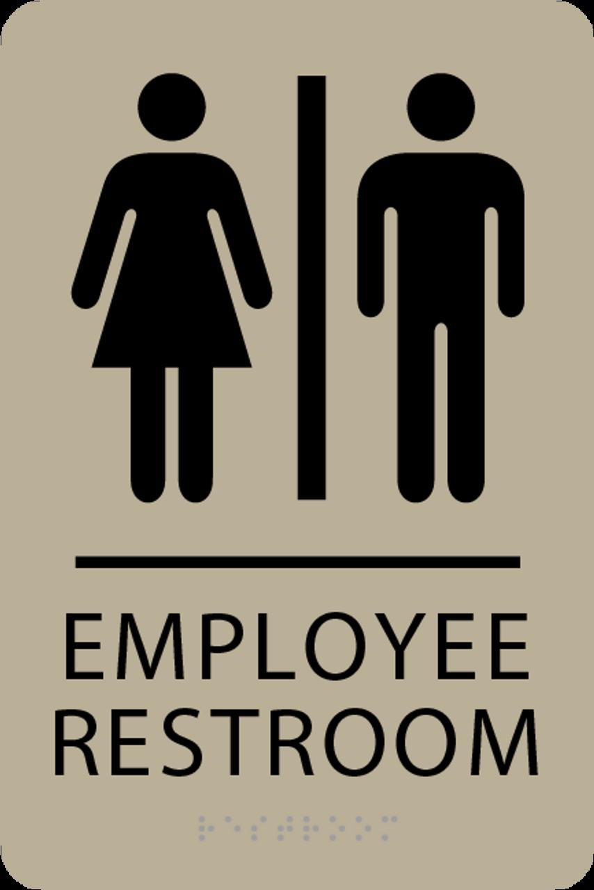ADA Employee Restroom Sign