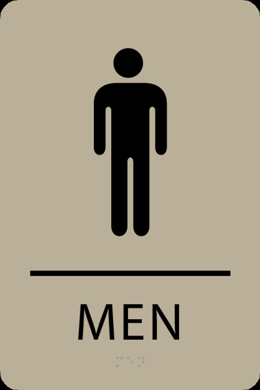 ADA Men Restroom Sign