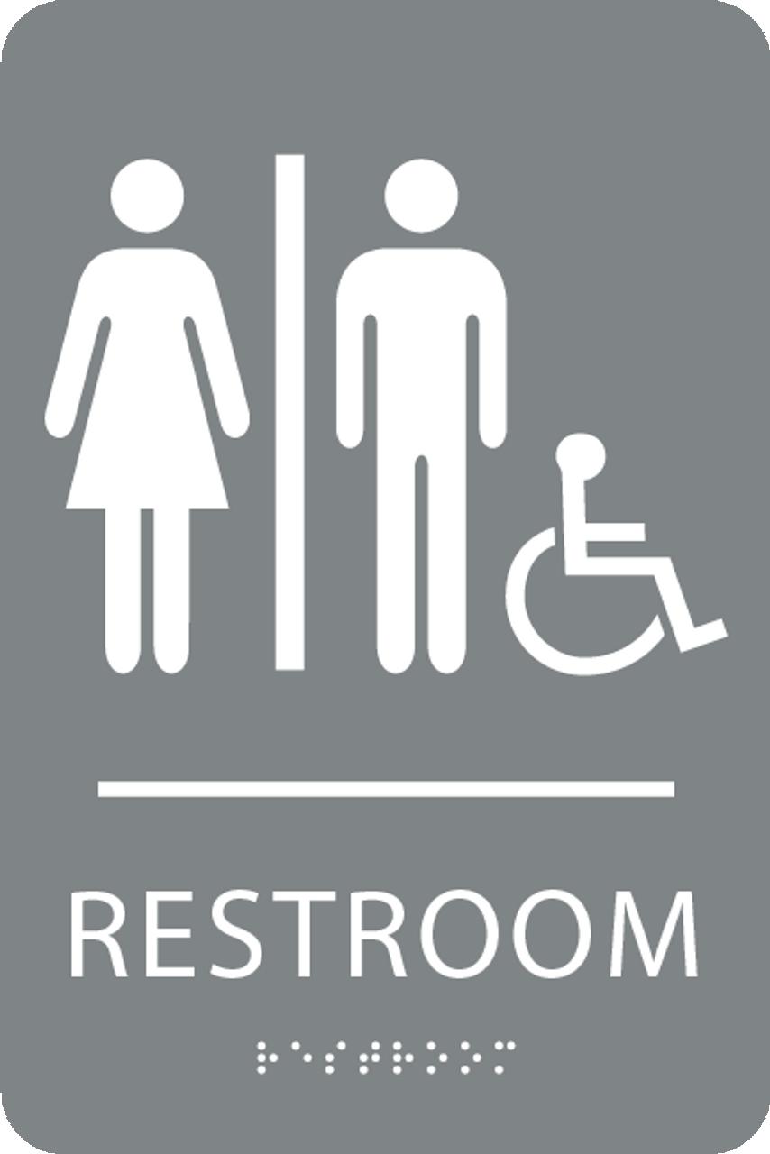 ADA Unisex Accessible Sign