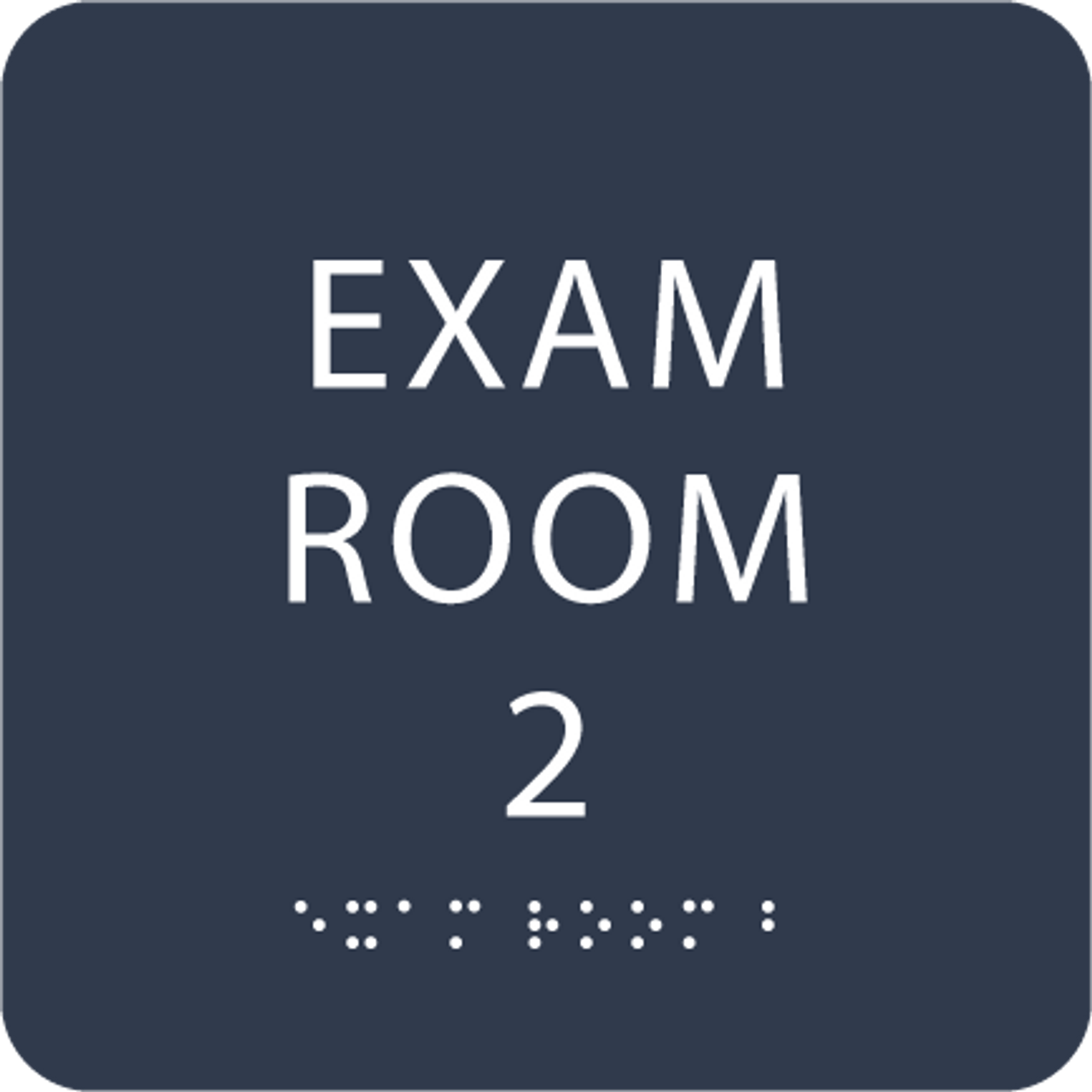 Navy ADA Exam Room 2 Sign with Braille