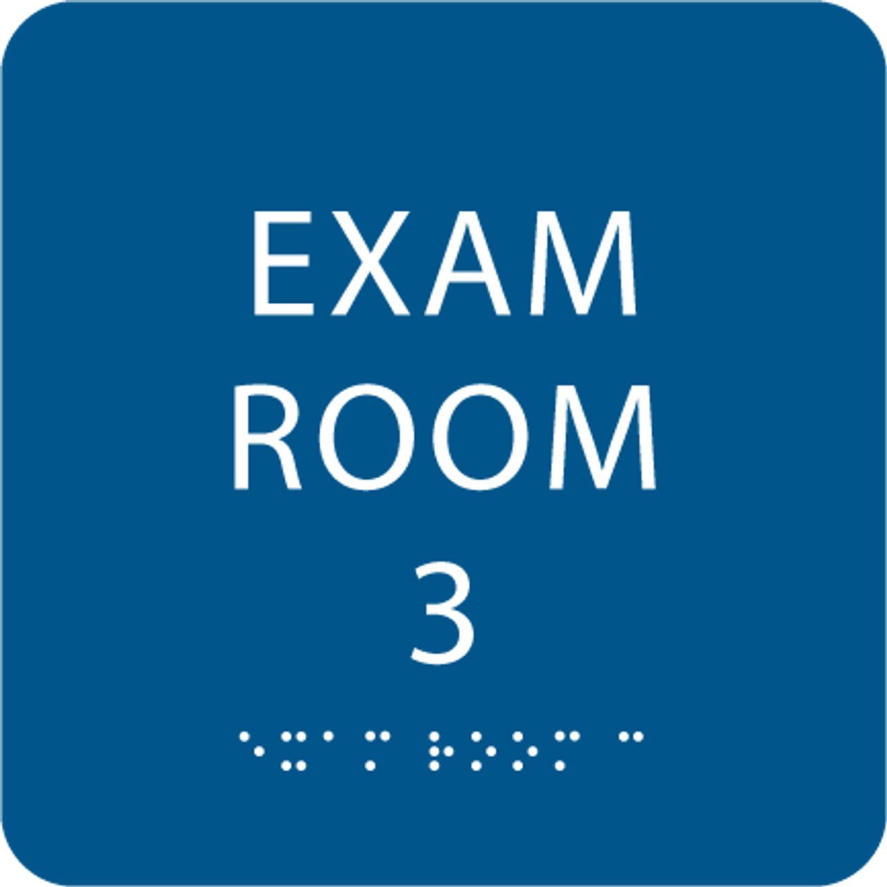 Royal Blue ADA Exam Room 3 with Braille