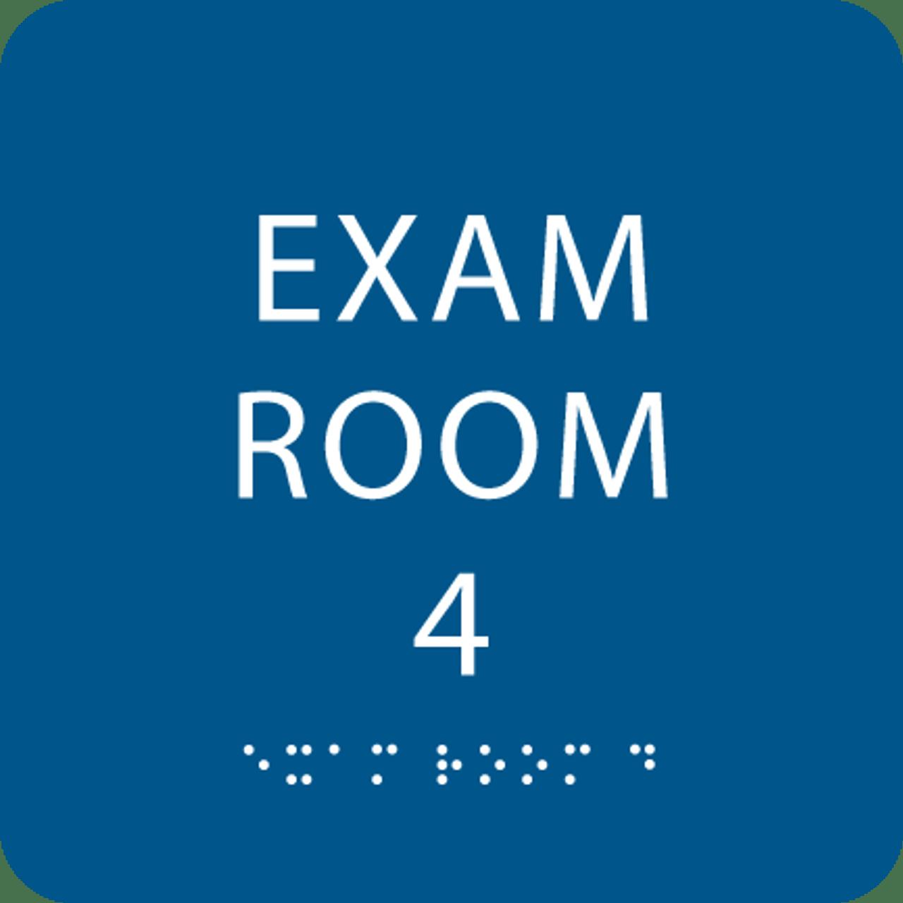 Royal Blue Exam Room 4 ADA Sign