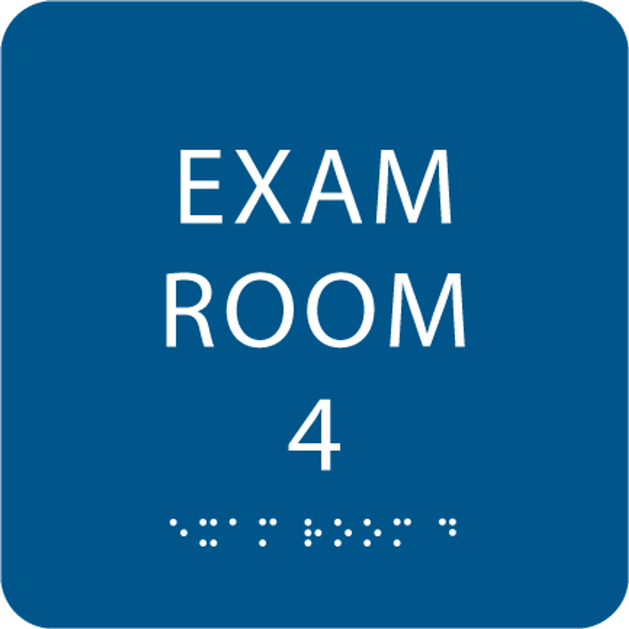 Royal Blue Exam Room 4 ADA Sign