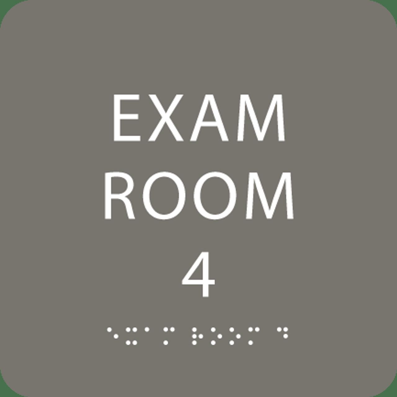 Dark Grey Exam Room 4 ADA Sign
