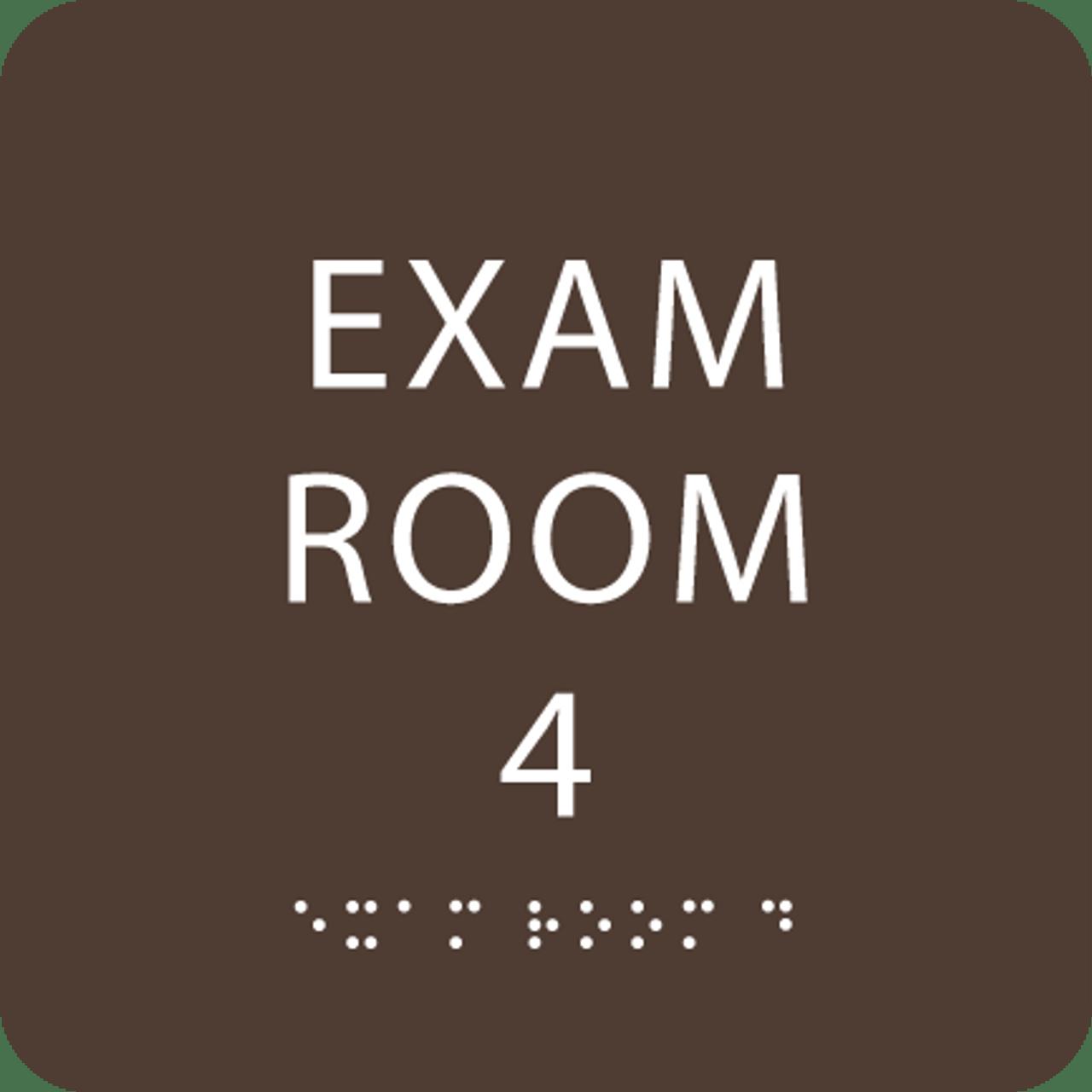 Dark Brown Exam Room 4 ADA Sign