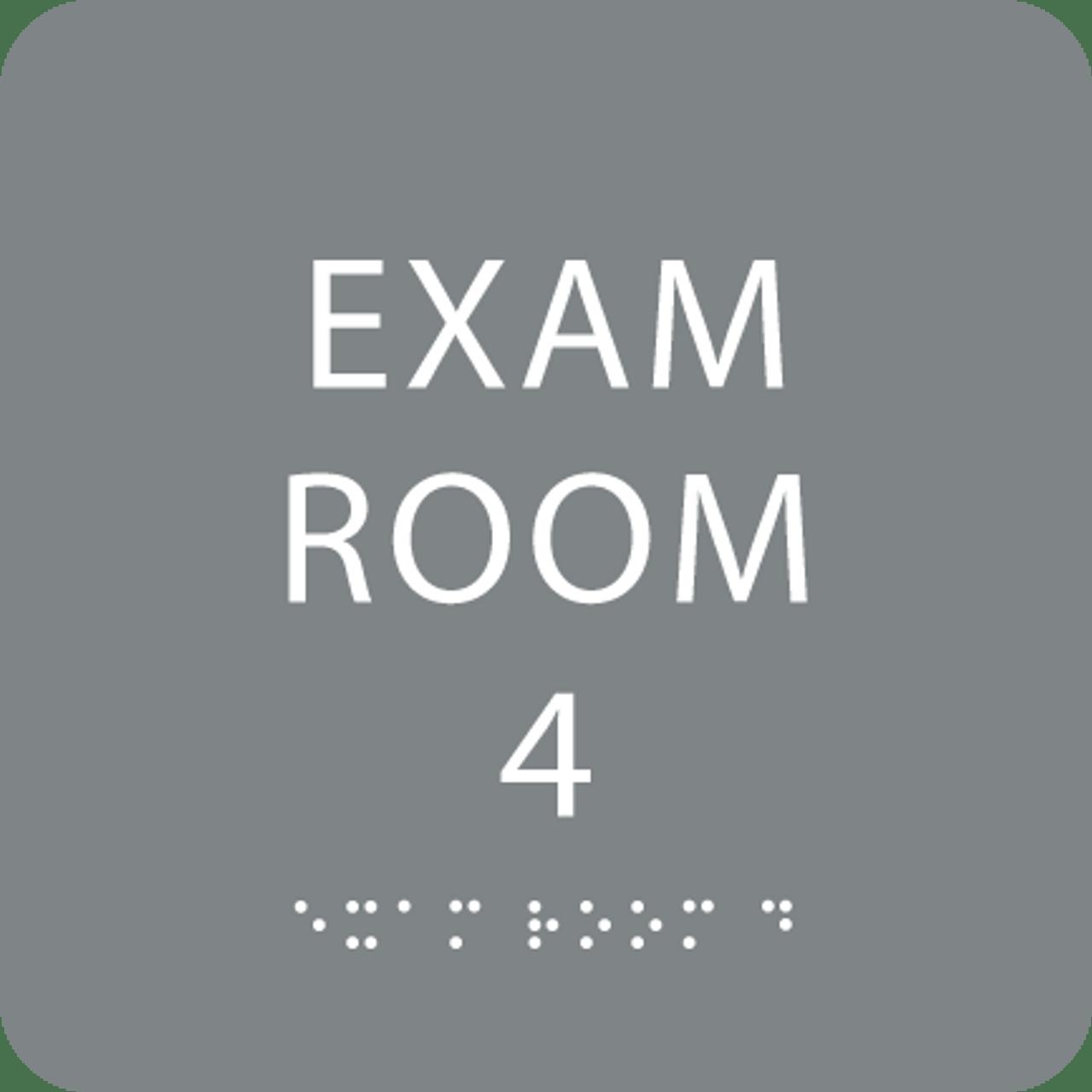 Grey Exam Room 4 ADA Sign
