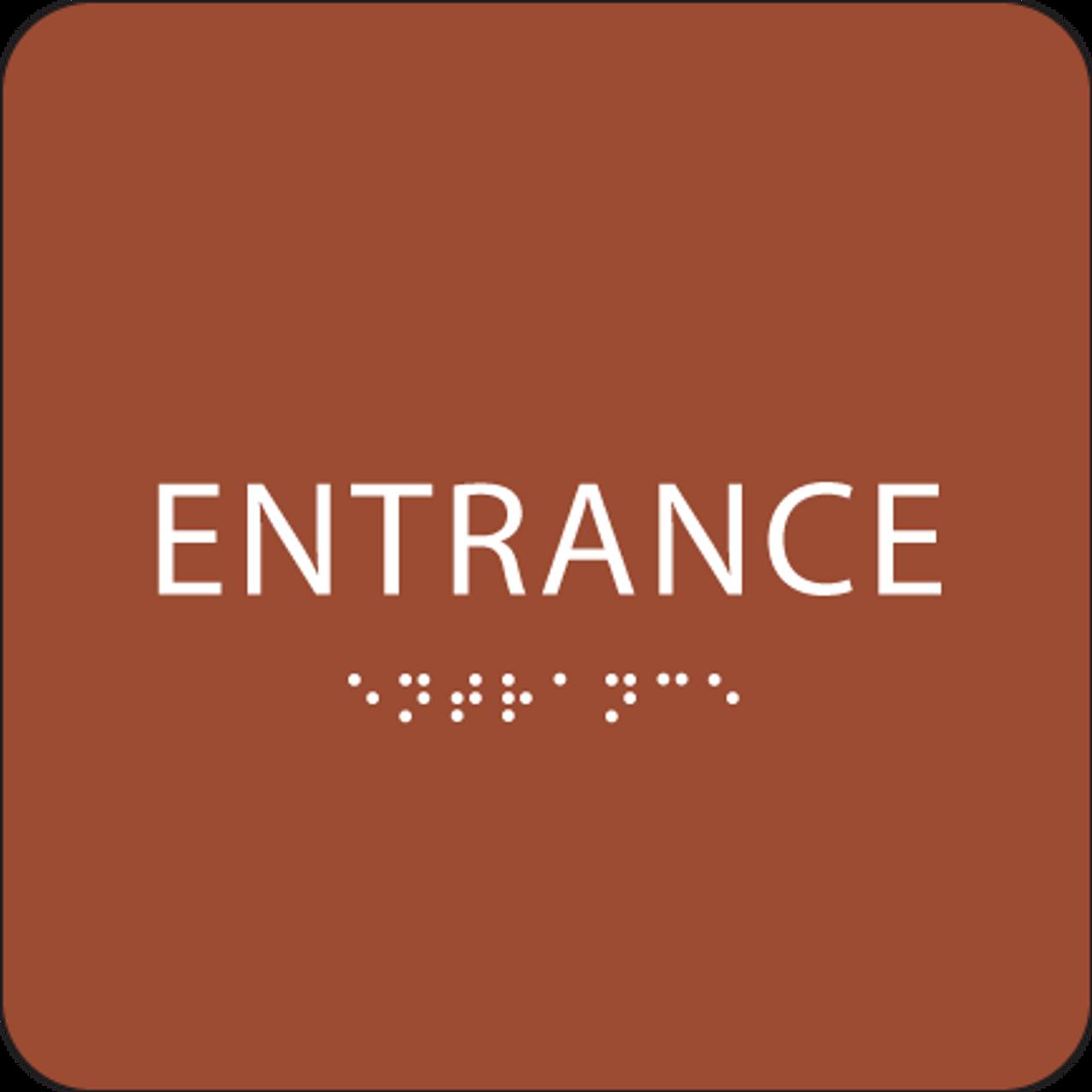 Orange ADA Entrance Sign
