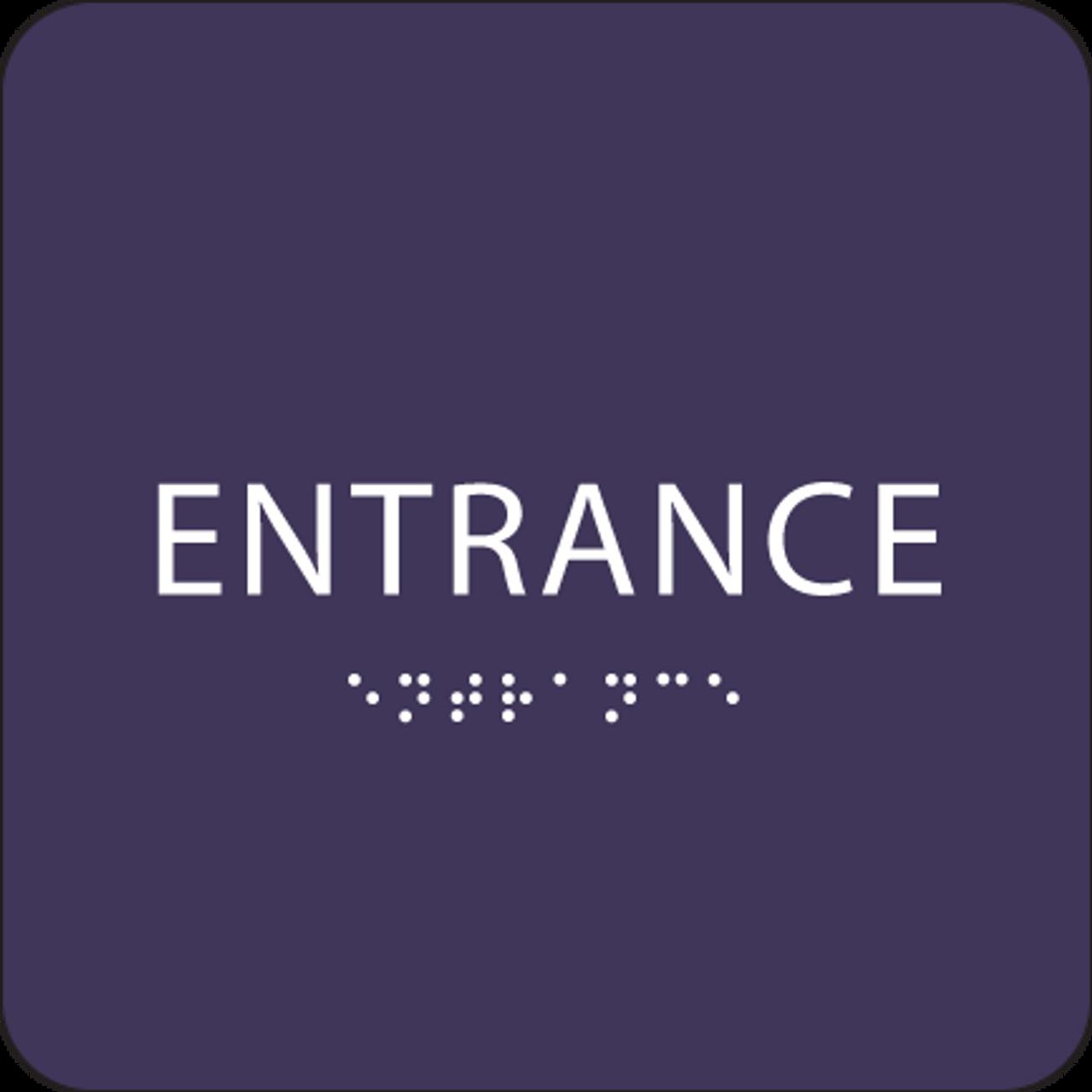 Purple ADA Entrance Sign