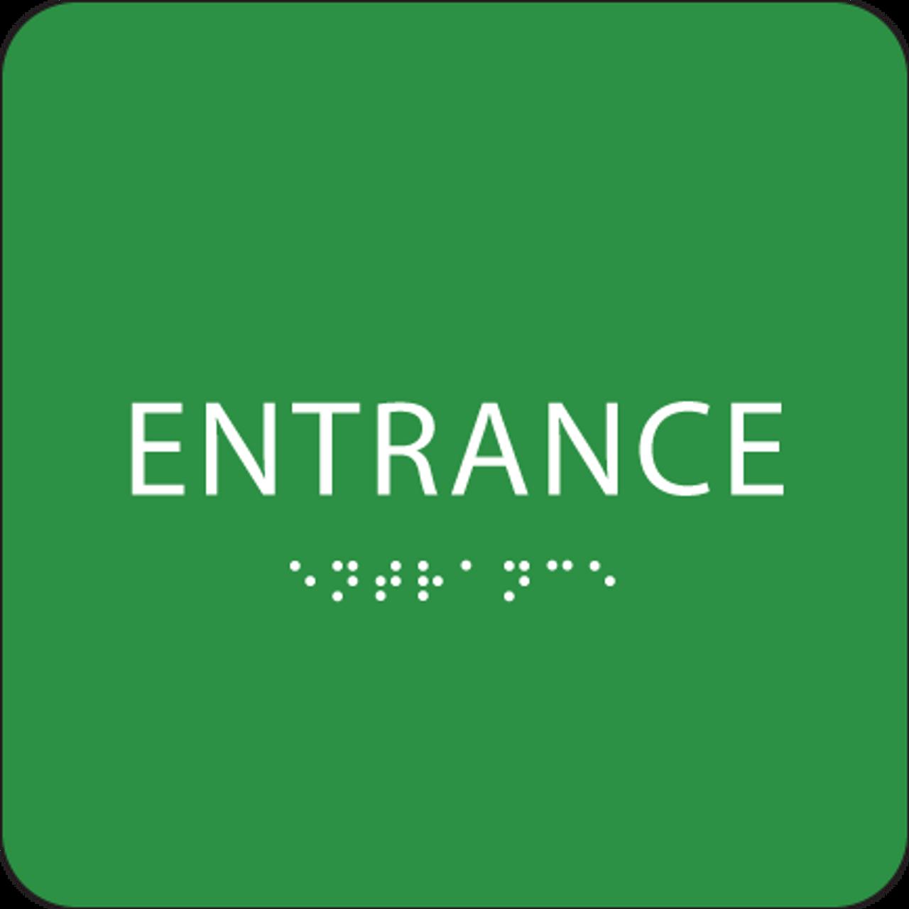 Green ADA Entrance Sign