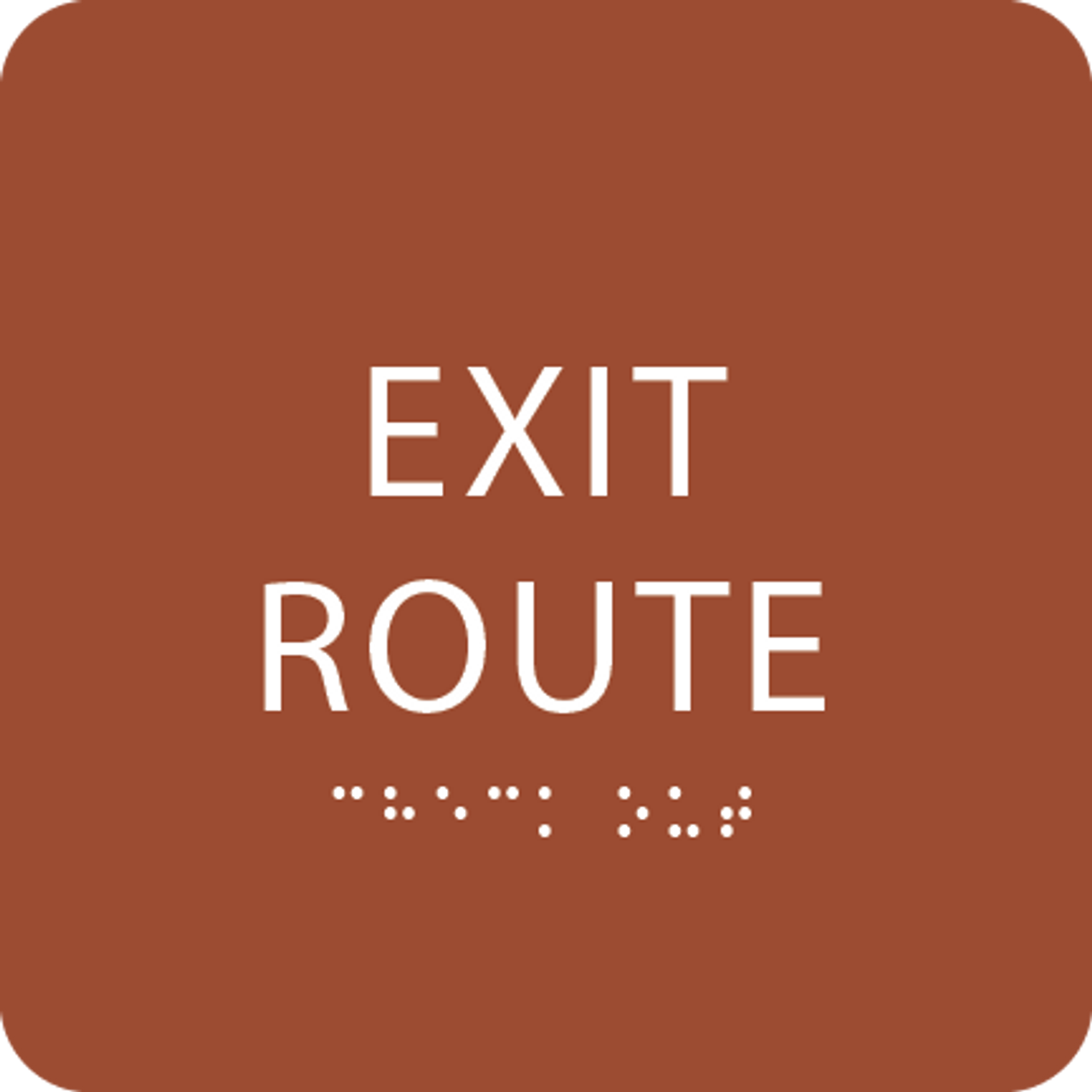 Orange Tactile Exit Route Sign
