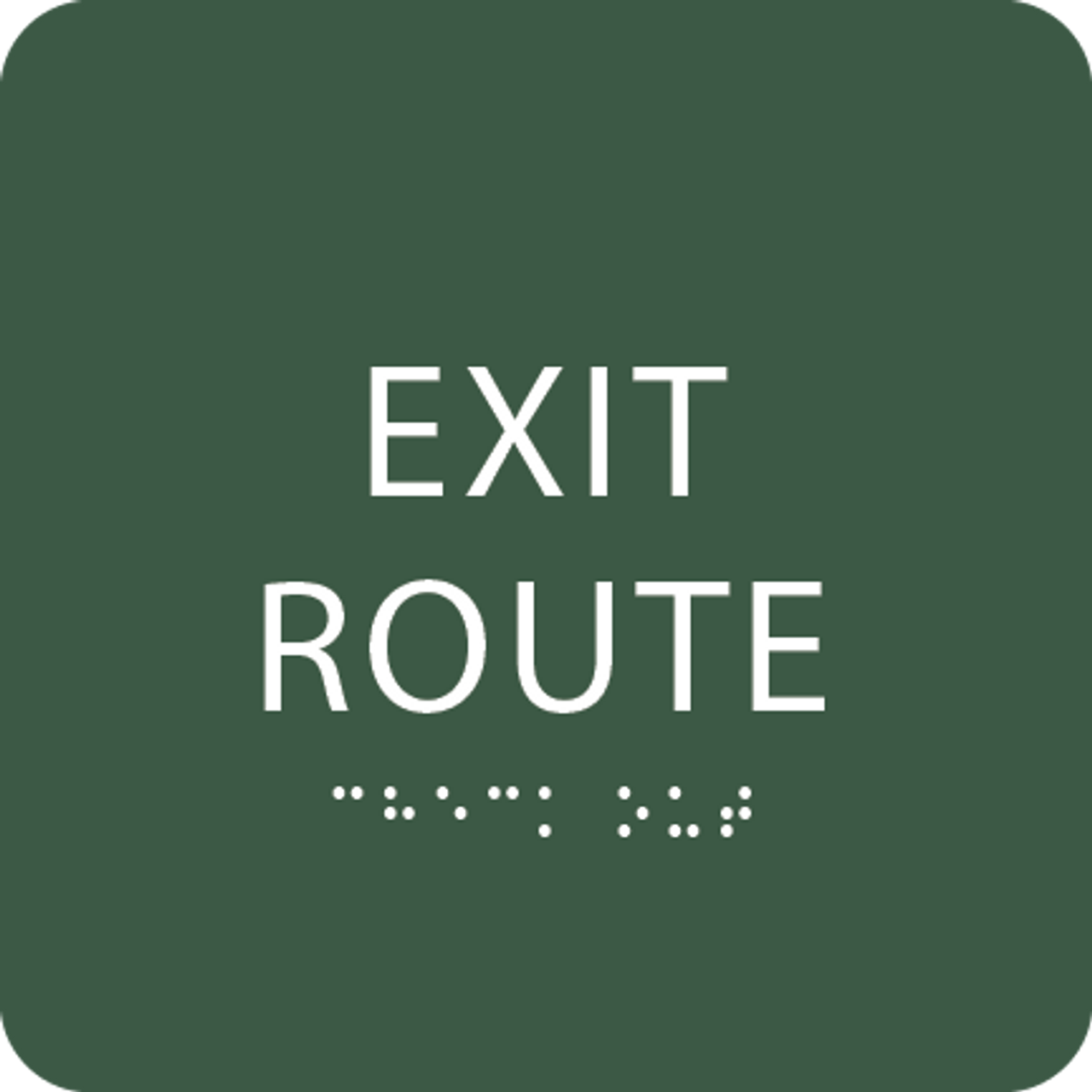 Spruce Tactile Exit Route Sign