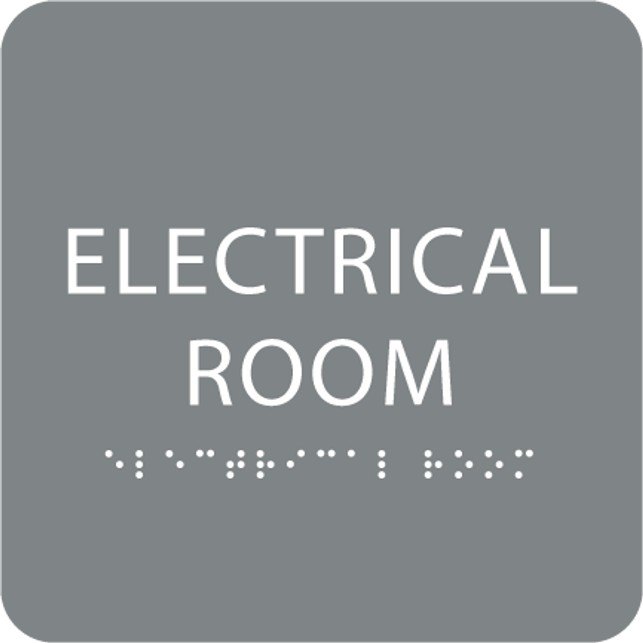 Grey Tactile Electrical Room Sign