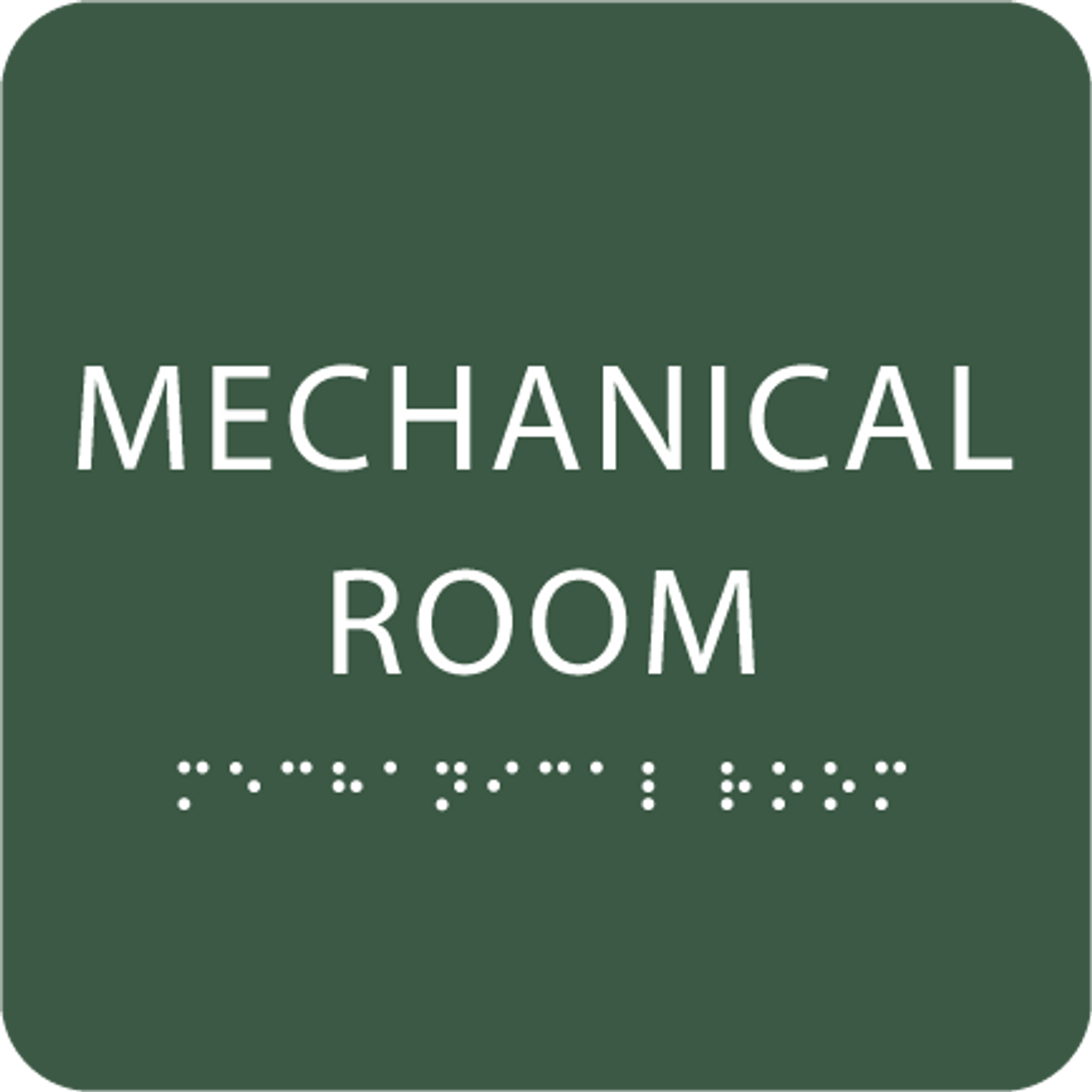 Forest Tactile Mechanical Room Sign