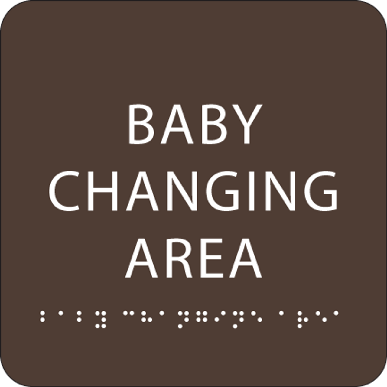 Brown Baby Changing Area ADA Sign