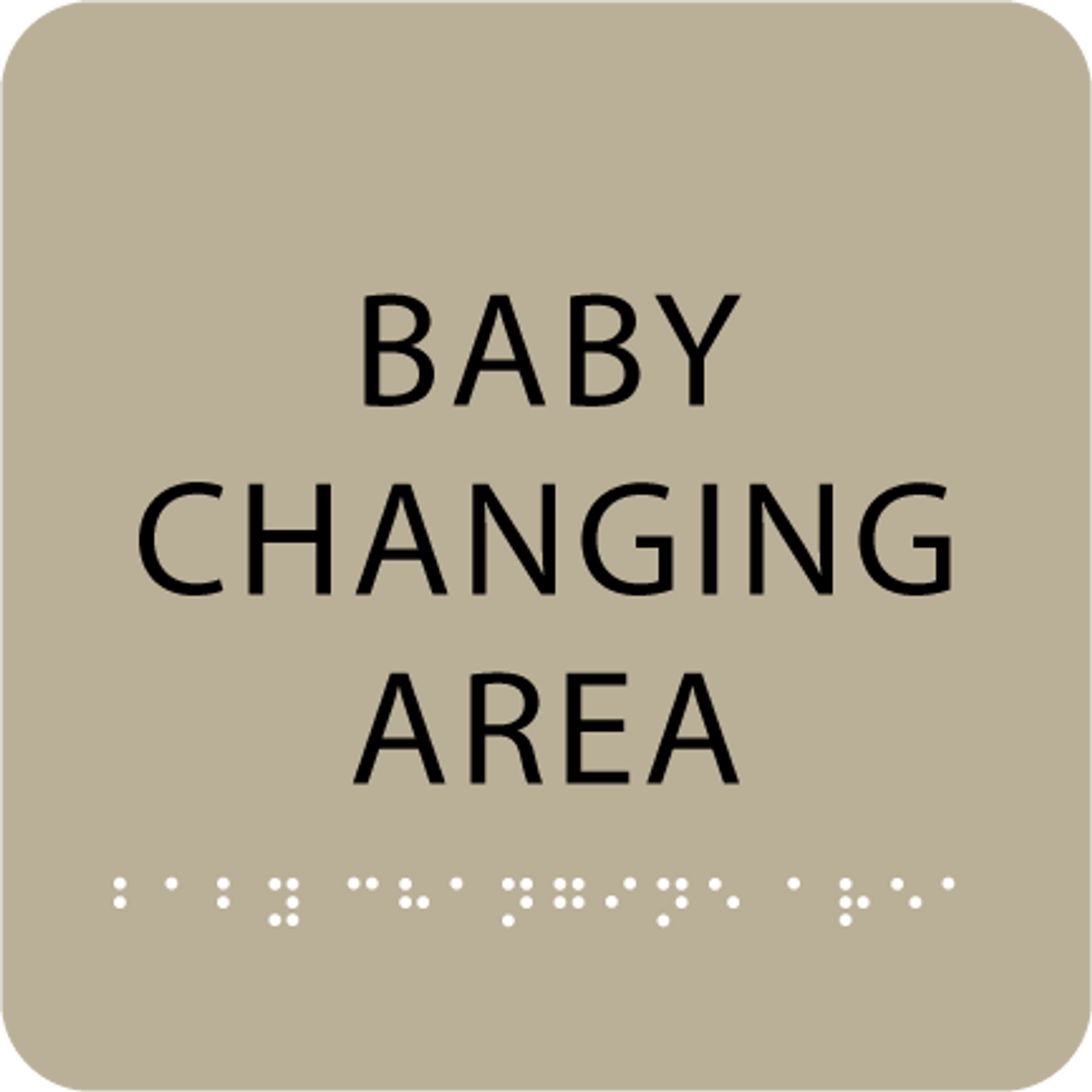 """Baby Changing Area ADA Sign - 6"""" x 6"""""""