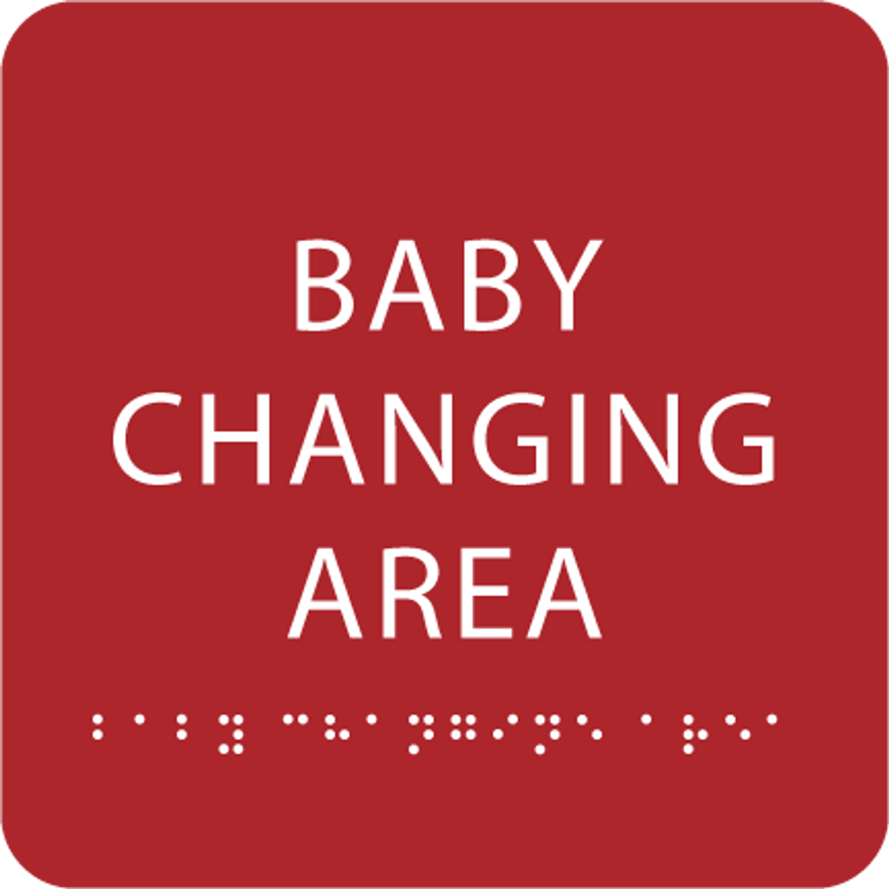 Red Baby Changing Area ADA Sign