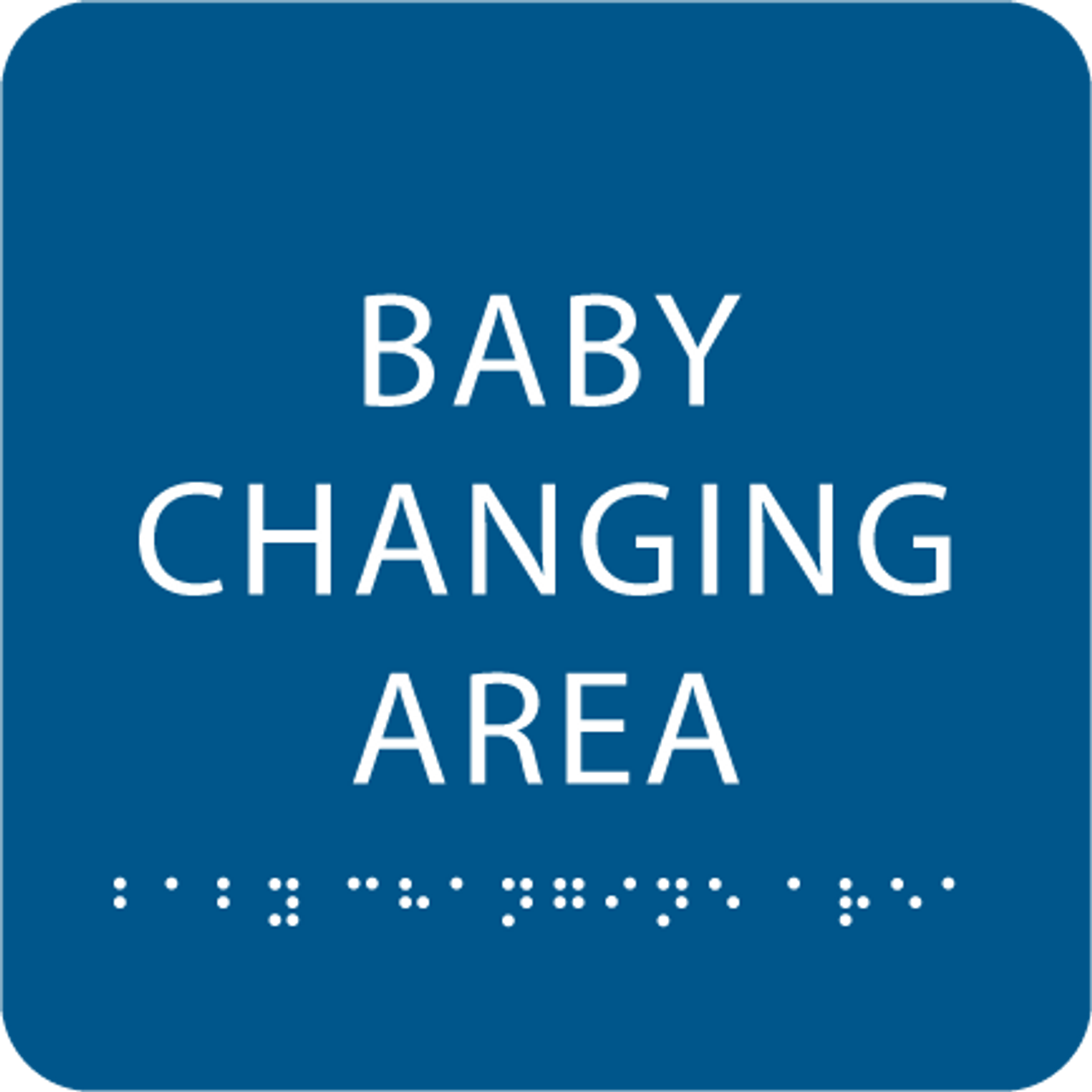 Royal Blue Baby Changing Area ADA Sign