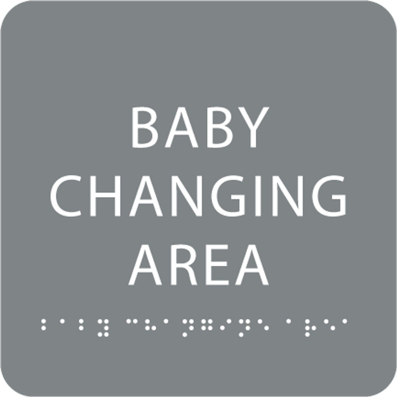 Grey Baby Changing Area ADA Sign