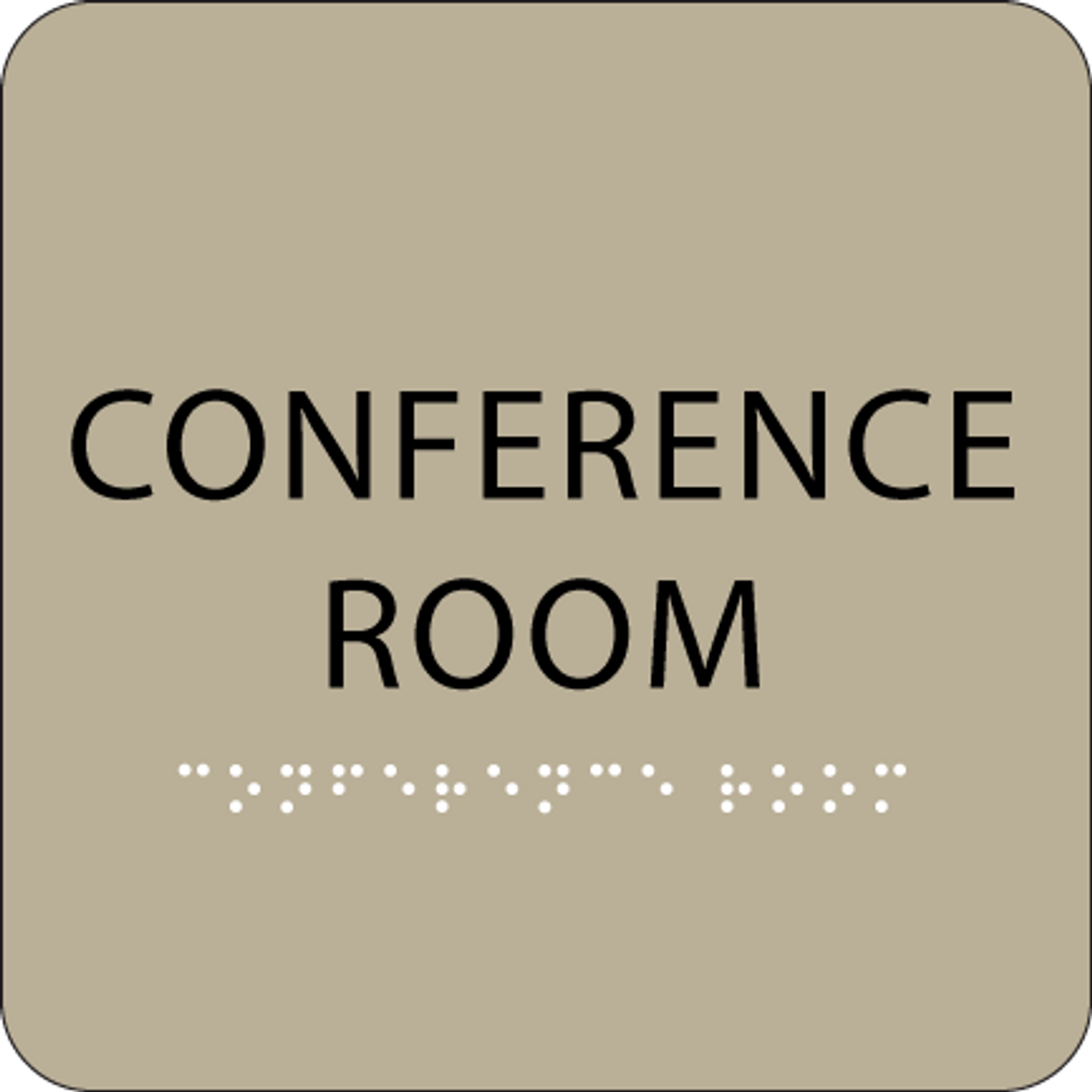 "Conference Room ADA Sign - 6"" x 6"""