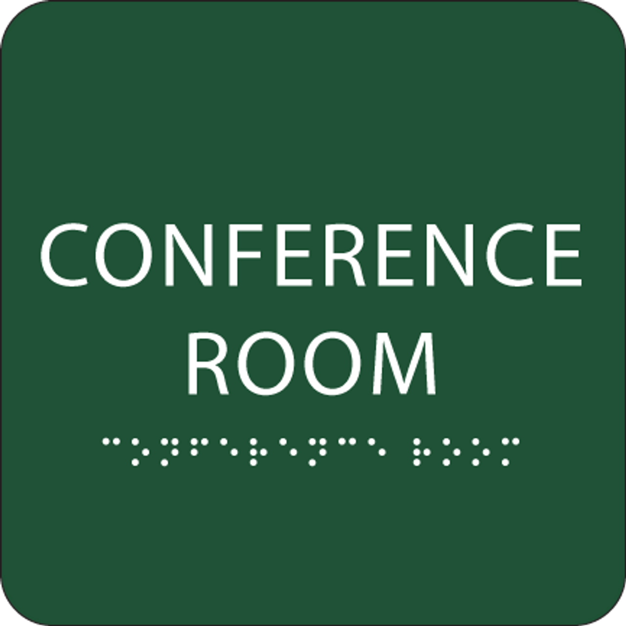 """Conference Room ADA Sign - 6"""" x 6"""""""