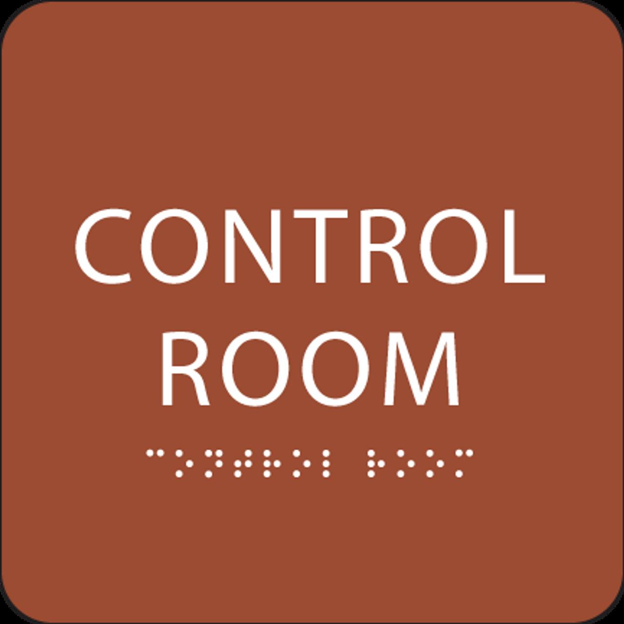 """Control Room ADA Sign - 6"""" x 6"""""""