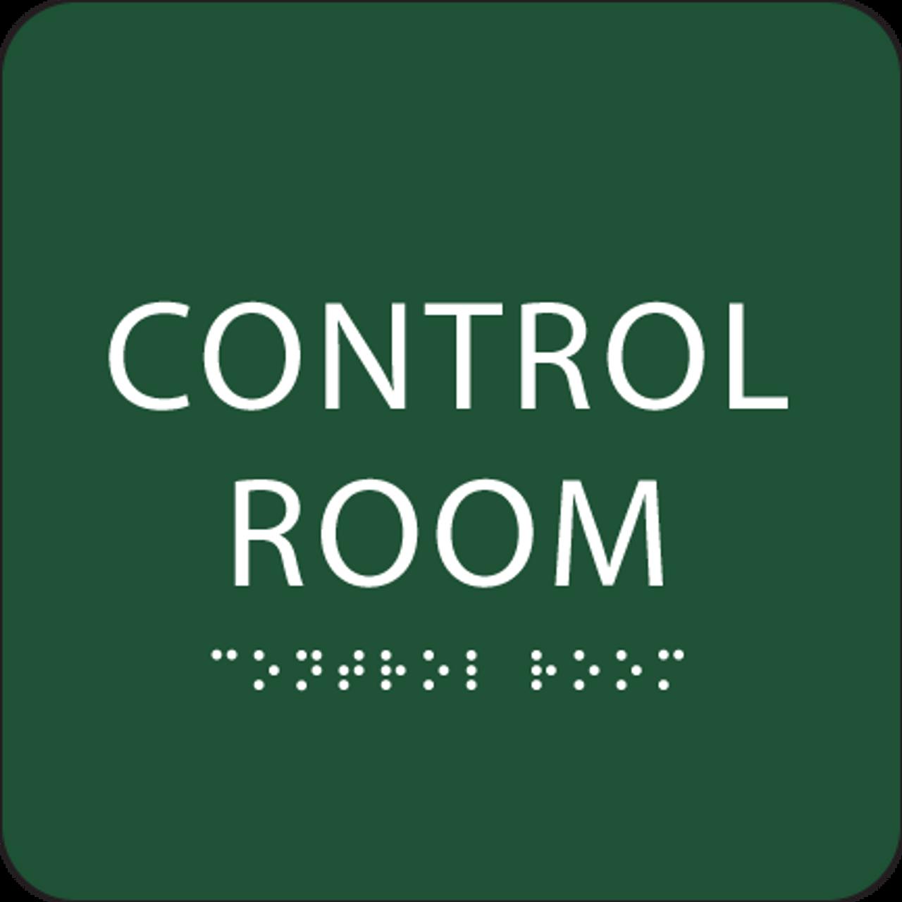 Green Control Room ADA Sign