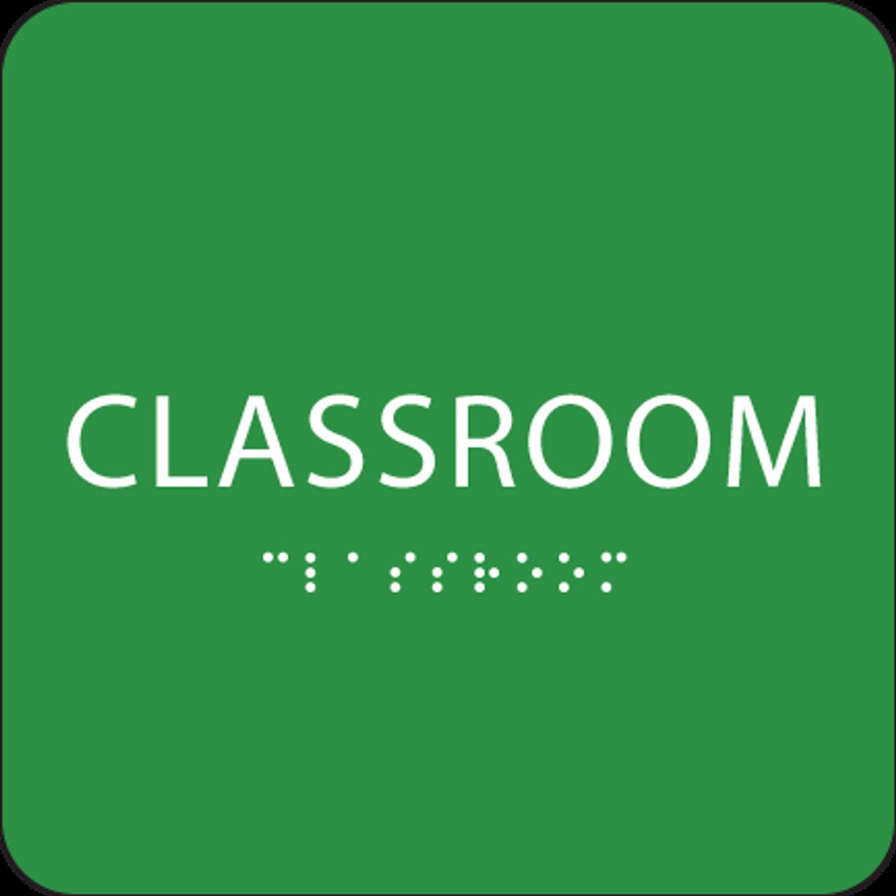 Green Classroom ADA Sign
