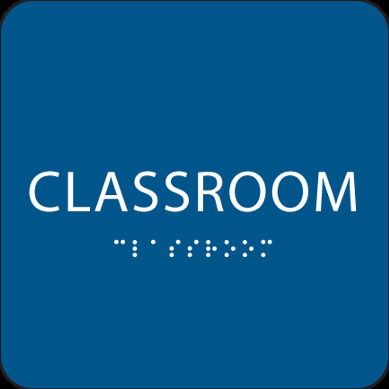 Royal Blue Classroom ADA Sign