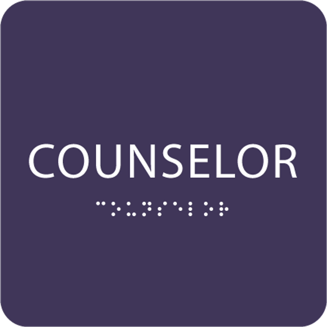 Purple Counselor ADA Sign