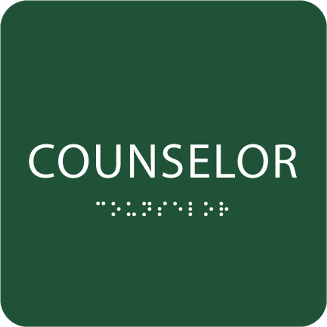 Green Counselor ADA Sign