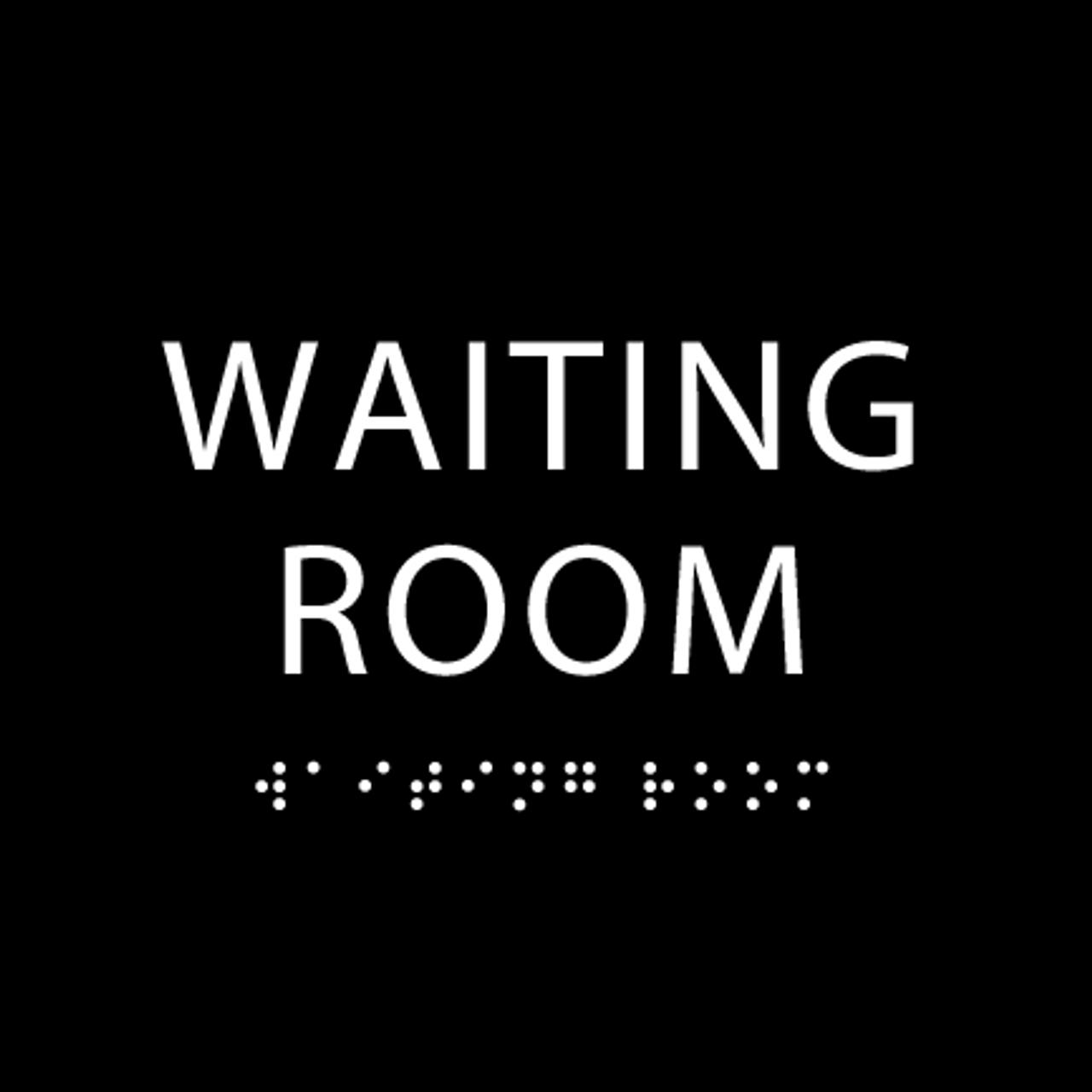 Black Waiting Room ADA Sign