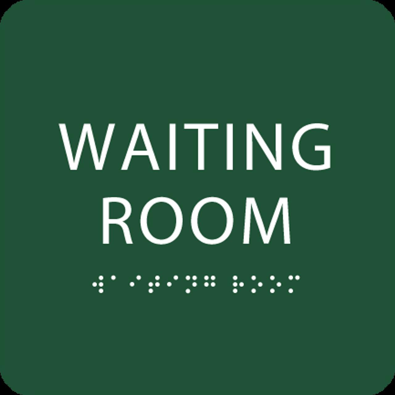 Green Waiting Room ADA Sign
