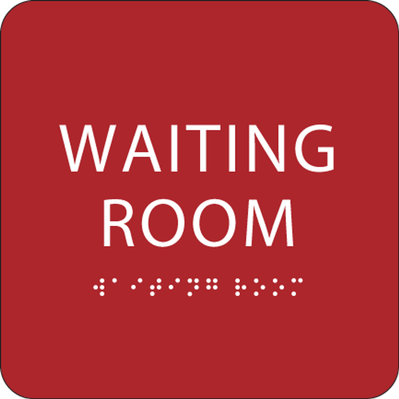 Red Waiting Room ADA Sign