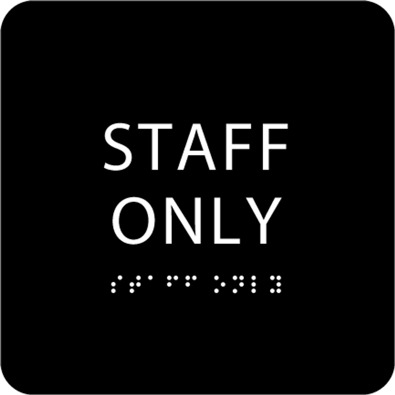 Black Staff Only ADA Sign