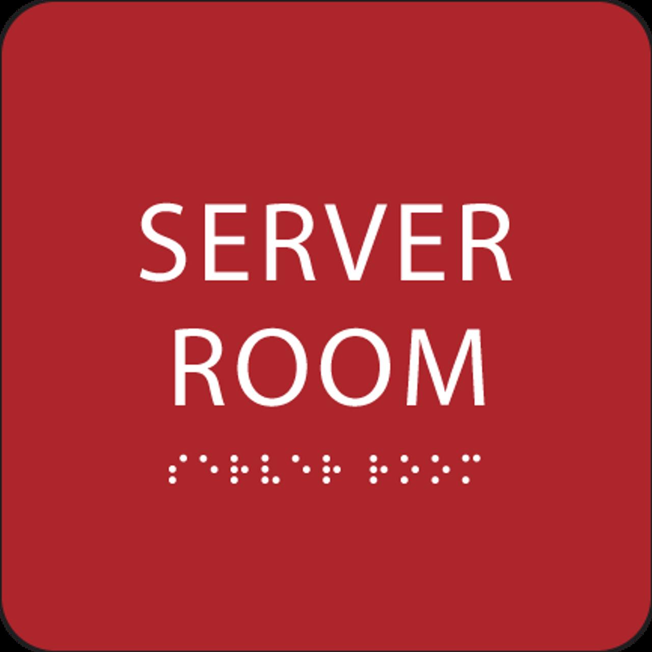 Red  Server Room ADA Sign