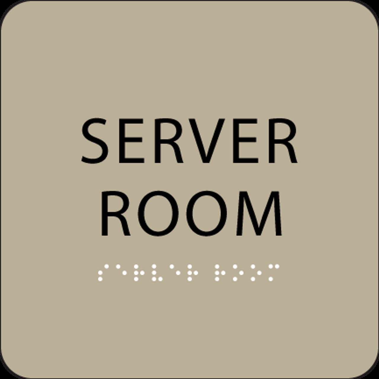 """Server Room ADA Sign - 6"""" x 6"""""""
