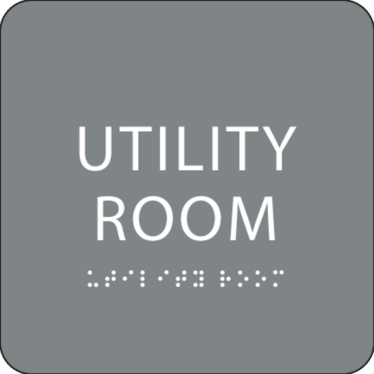 Grey Utility Room ADA Sign