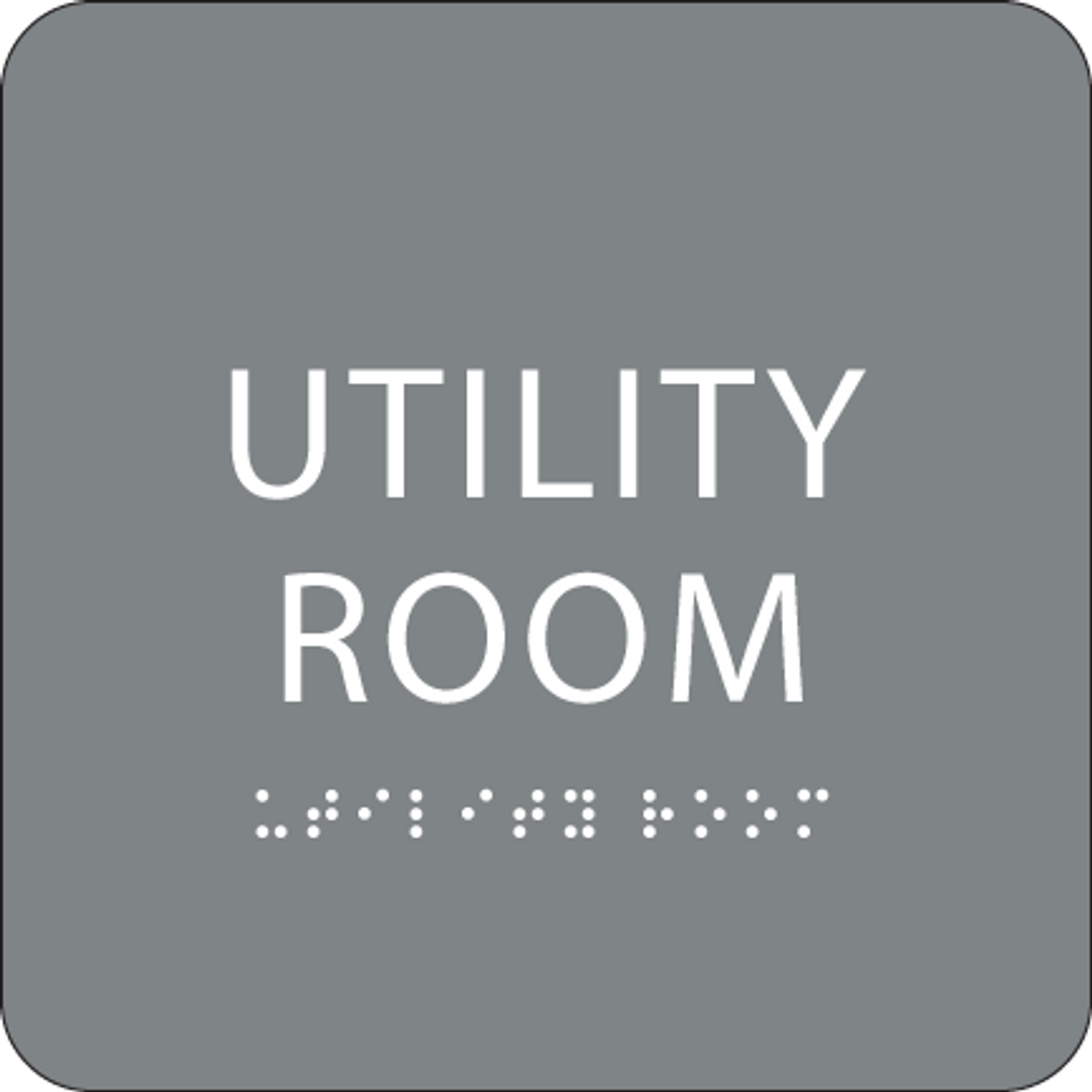 Grey Utility Room ADA Sign