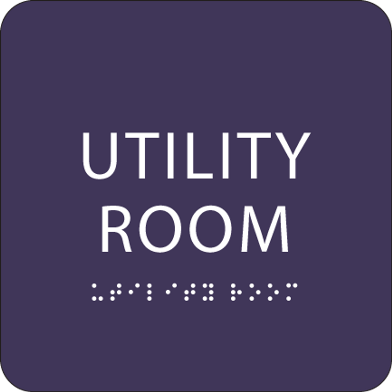 "Utility Room ADA Sign - 6"" x 6"""