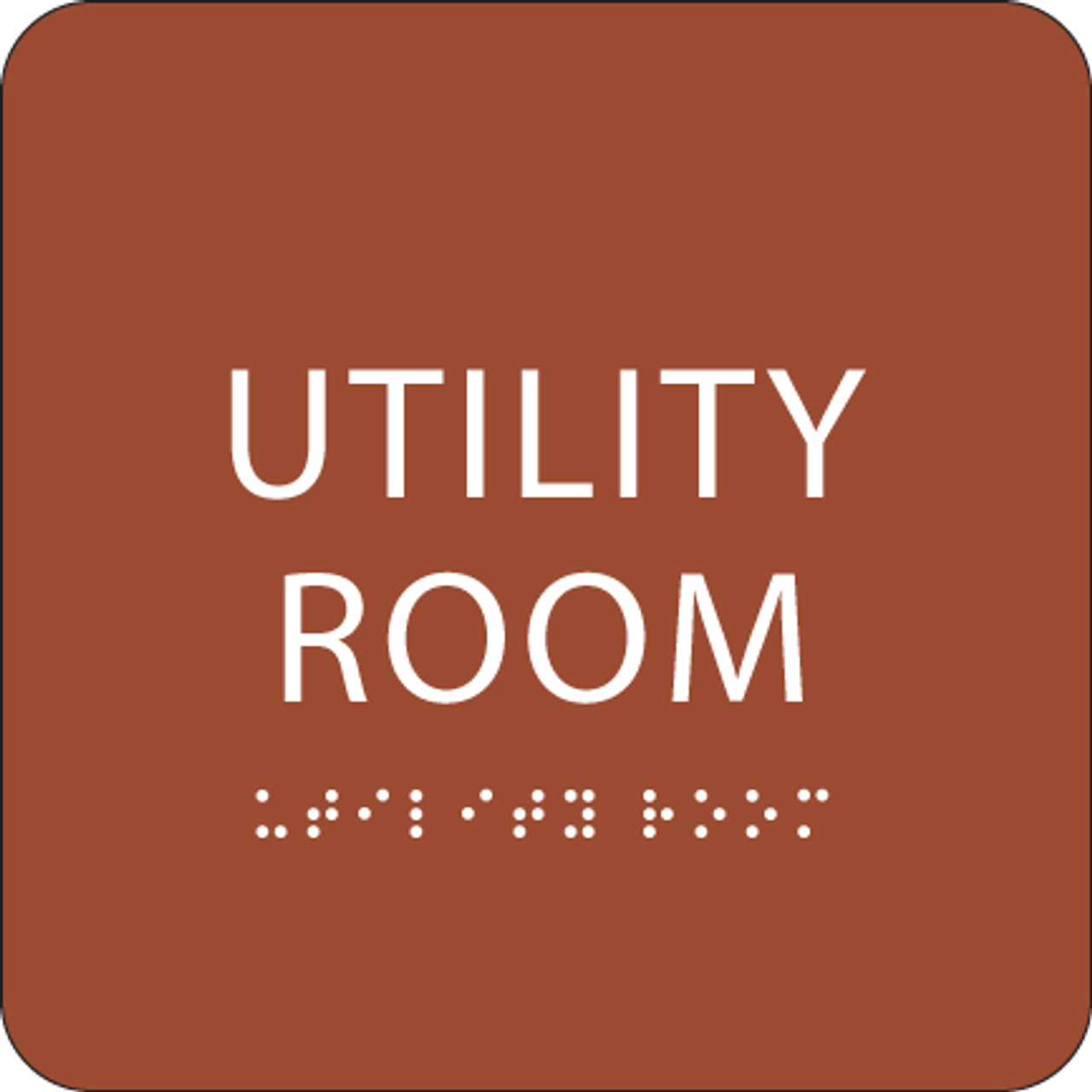 Orange Utility Room ADA Sign