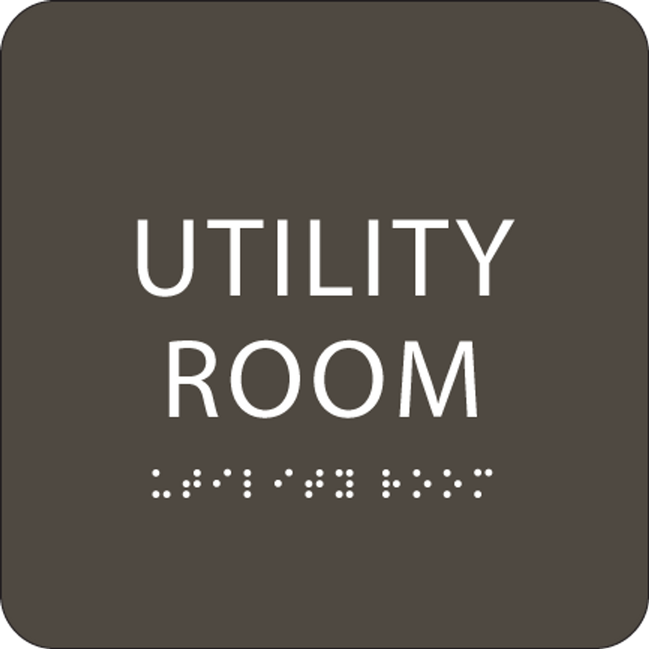 Olive Utility Room ADA Sign