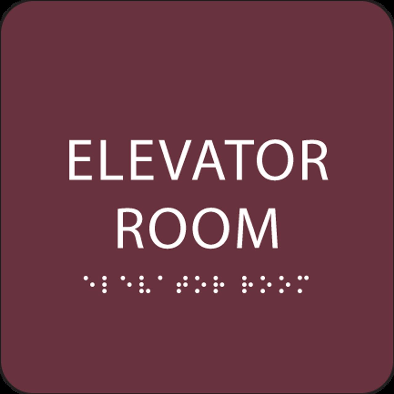 "Elevator Room ADA Sign - 6"" x 6"""